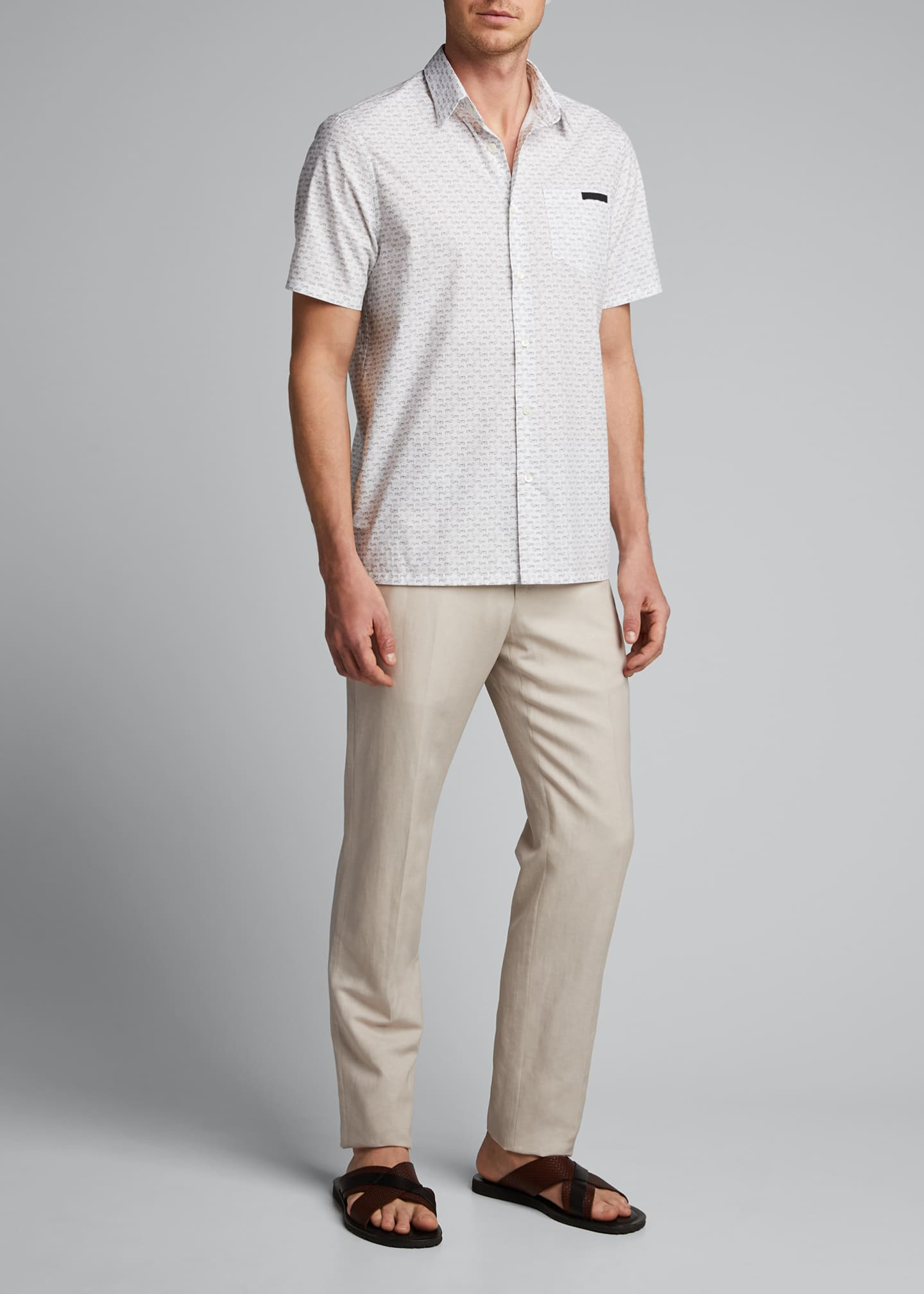 Image 1 of 5: Men's Journey Graphic Poplin Short-Sleeve Shirt