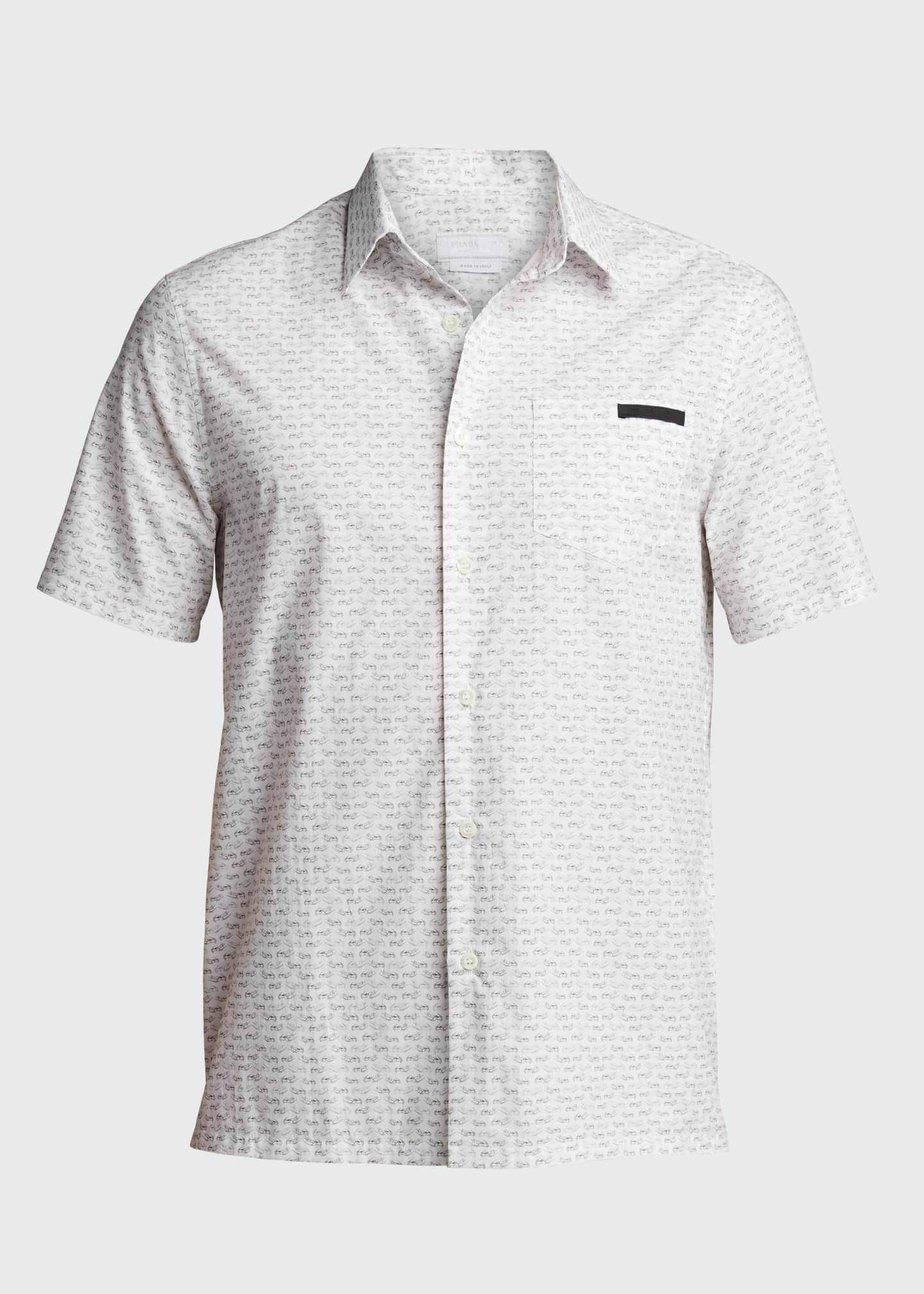 Image 5 of 5: Men's Journey Graphic Poplin Short-Sleeve Shirt