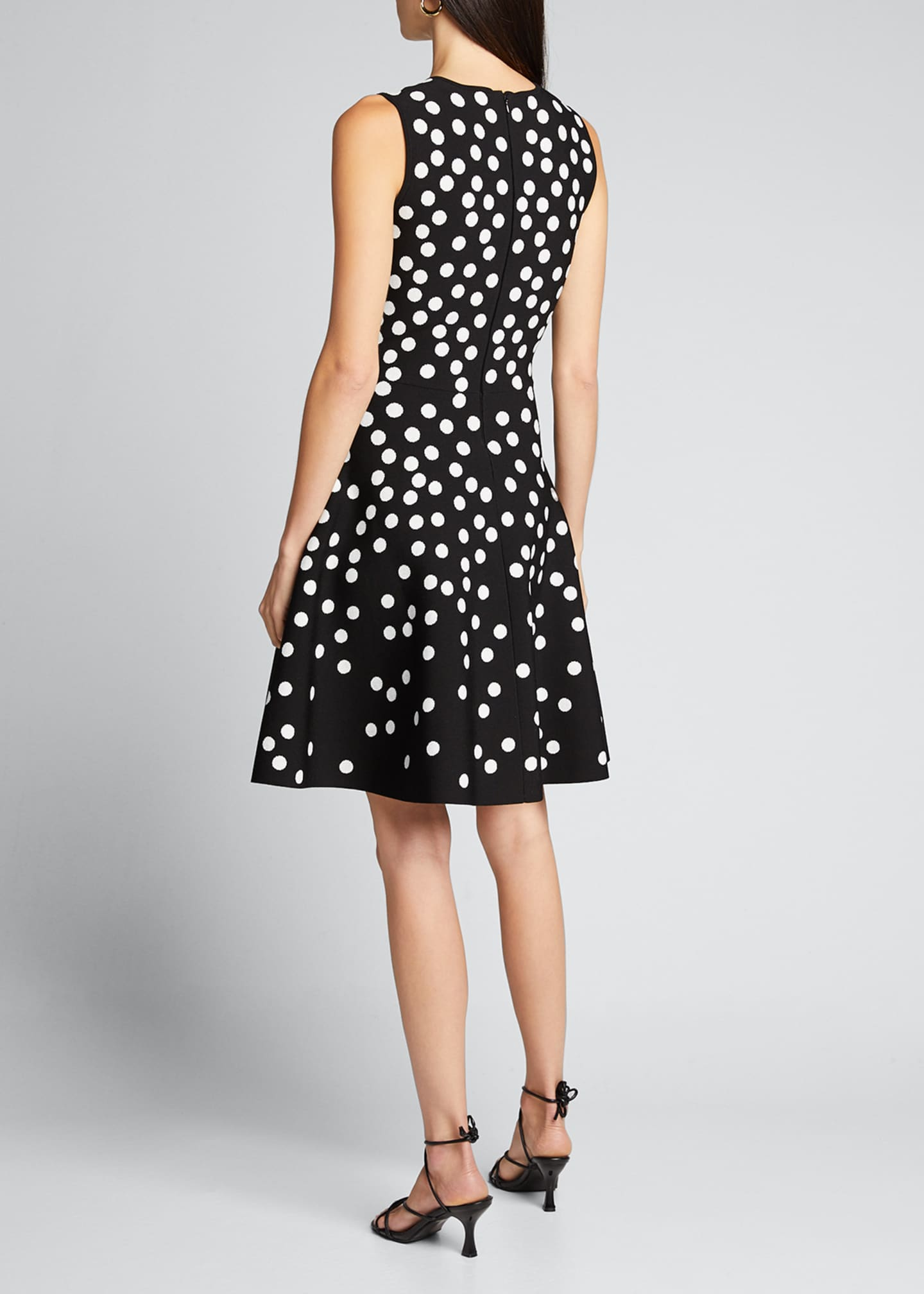 Image 2 of 5: Polka Dot Fit-&-Flare Dress