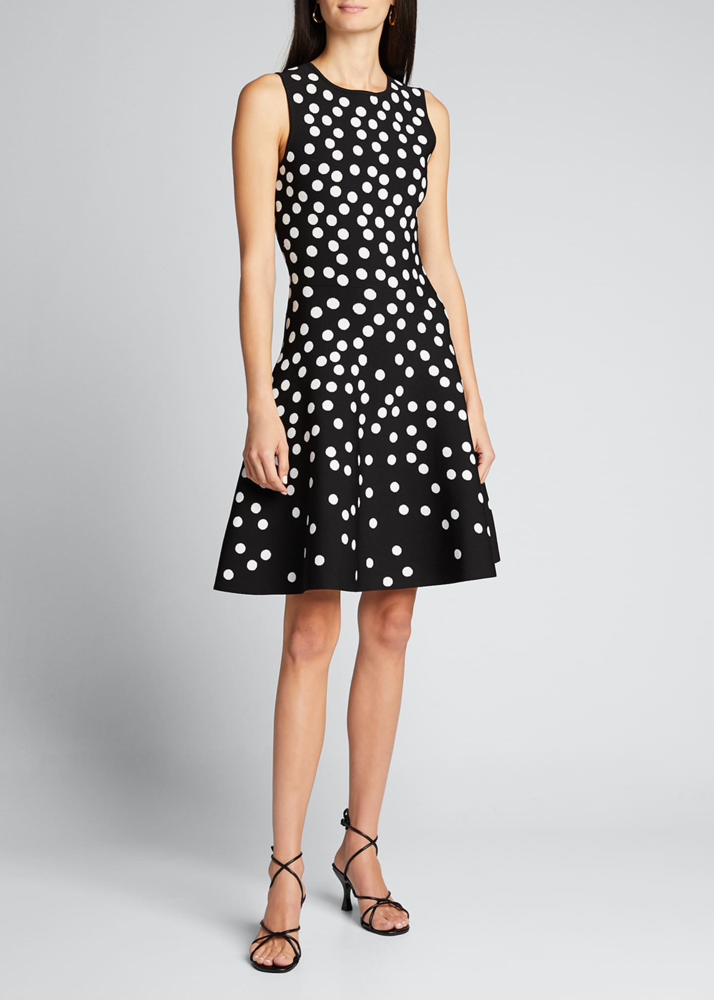 Image 3 of 5: Polka Dot Fit-&-Flare Dress