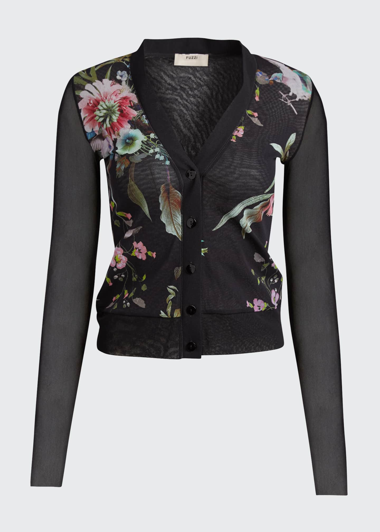 Image 5 of 5: Bouquet Button-Front Cardigan