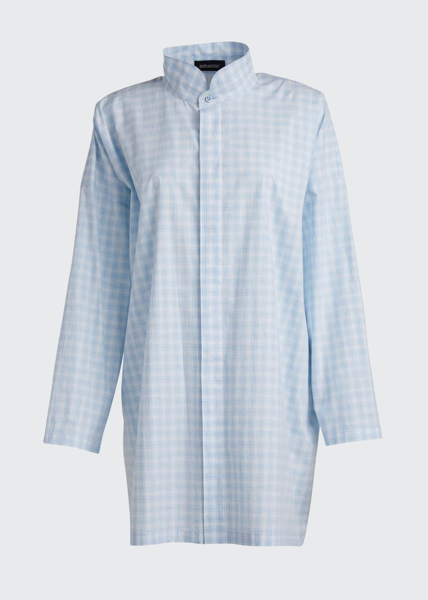 Image 5 of 5: Poplin Double-Collar Slim A-Line Shirt