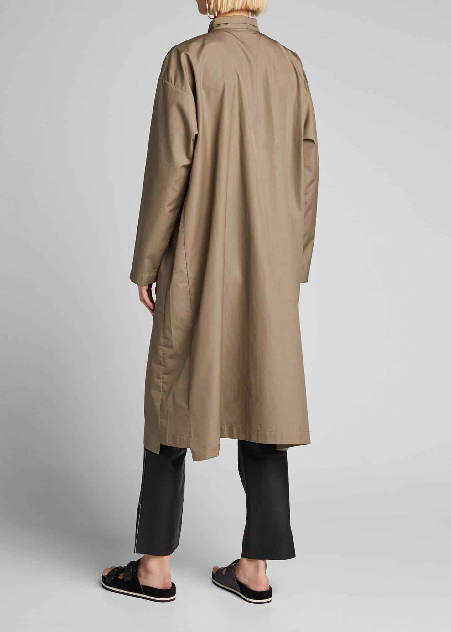 Image 2 of 5: Poplin Midi Shirtdress