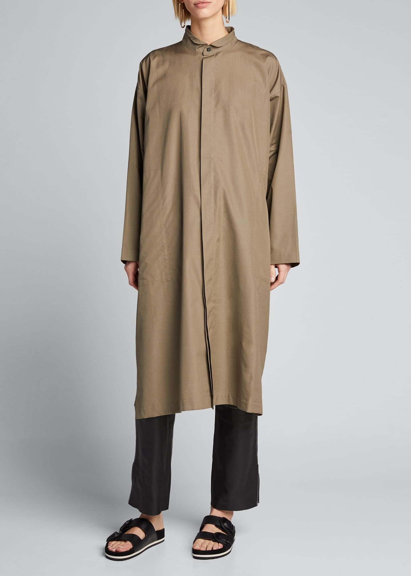 Image 3 of 5: Poplin Midi Shirtdress