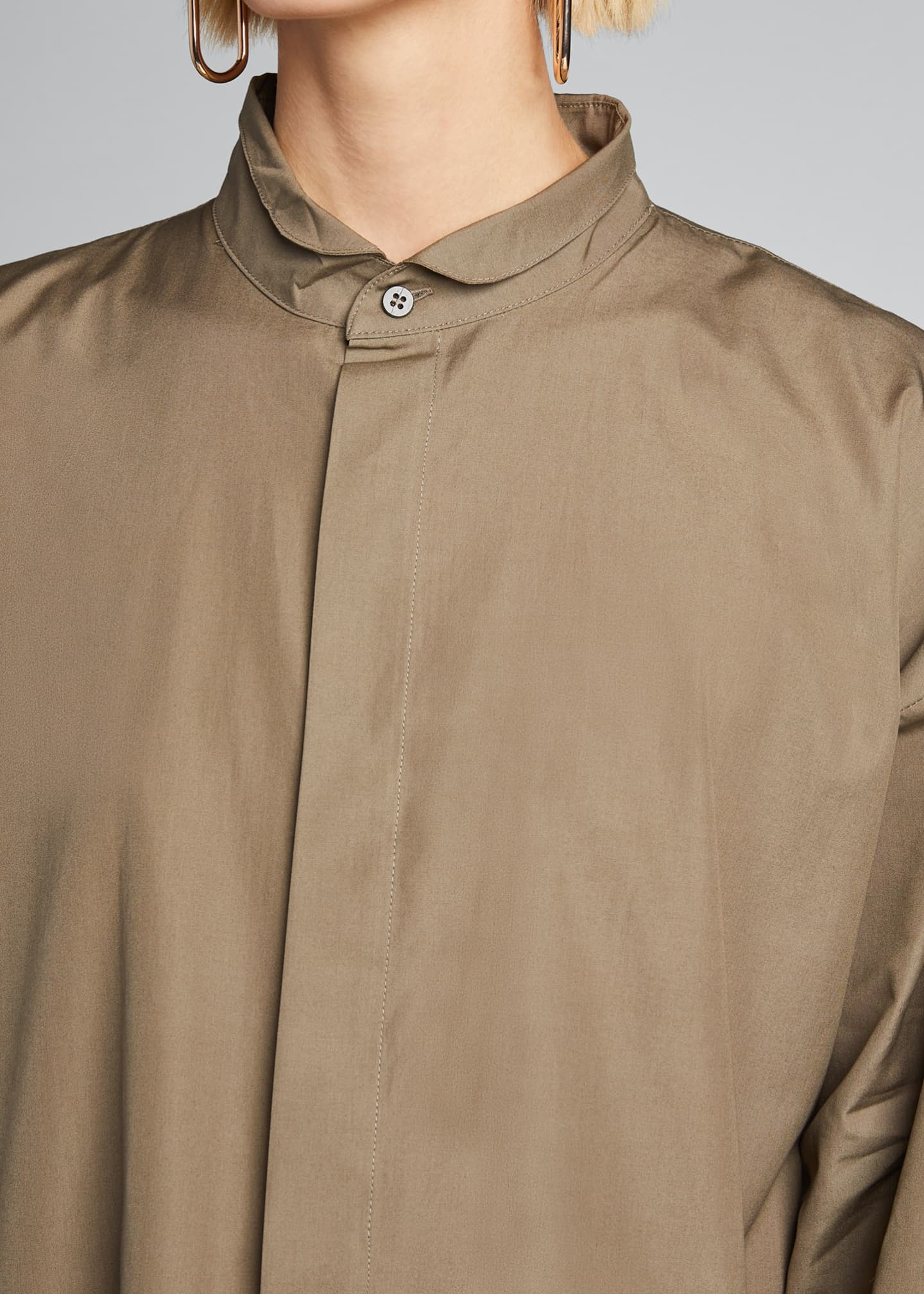 Image 4 of 5: Poplin Midi Shirtdress