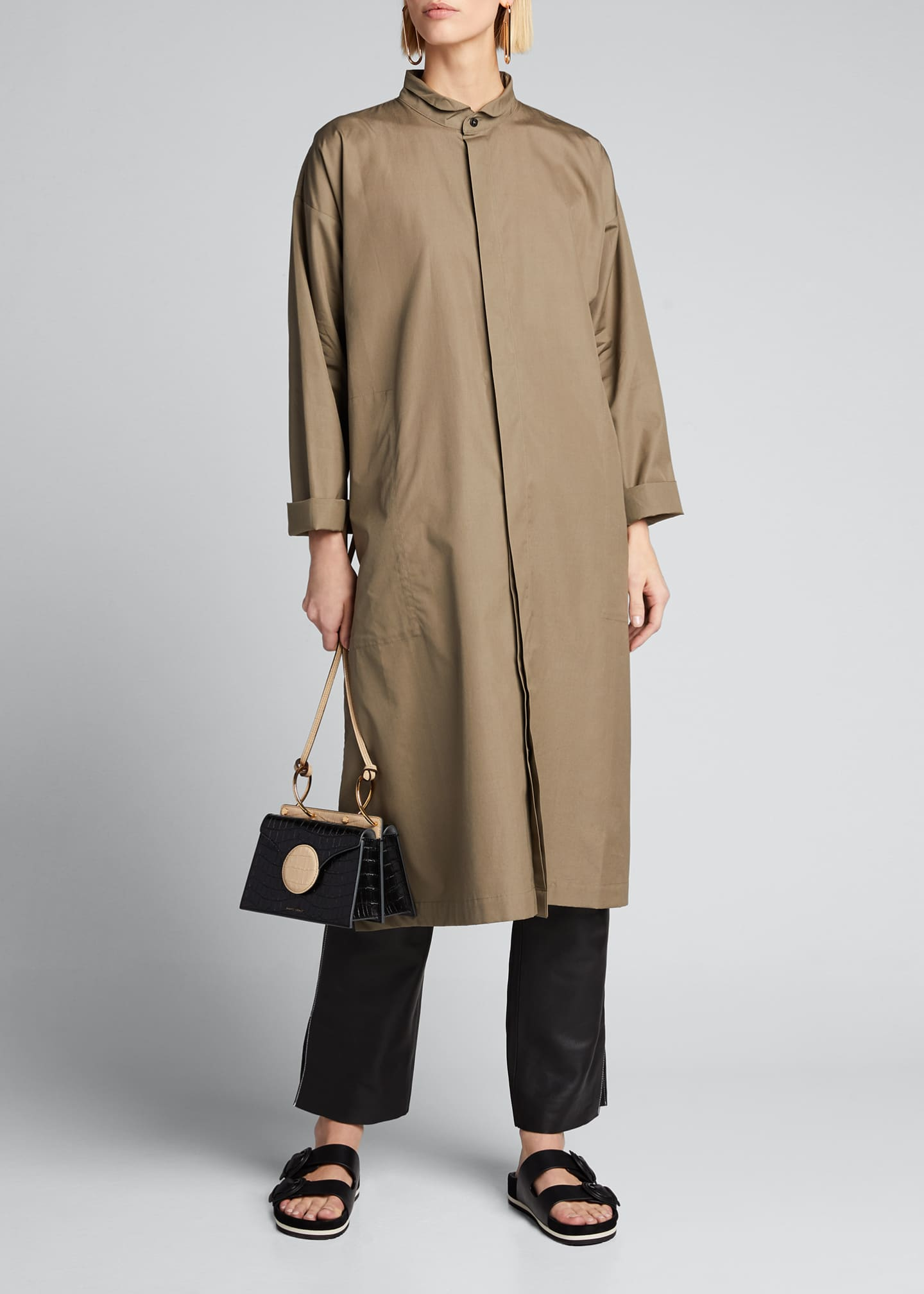Image 1 of 5: Poplin Midi Shirtdress