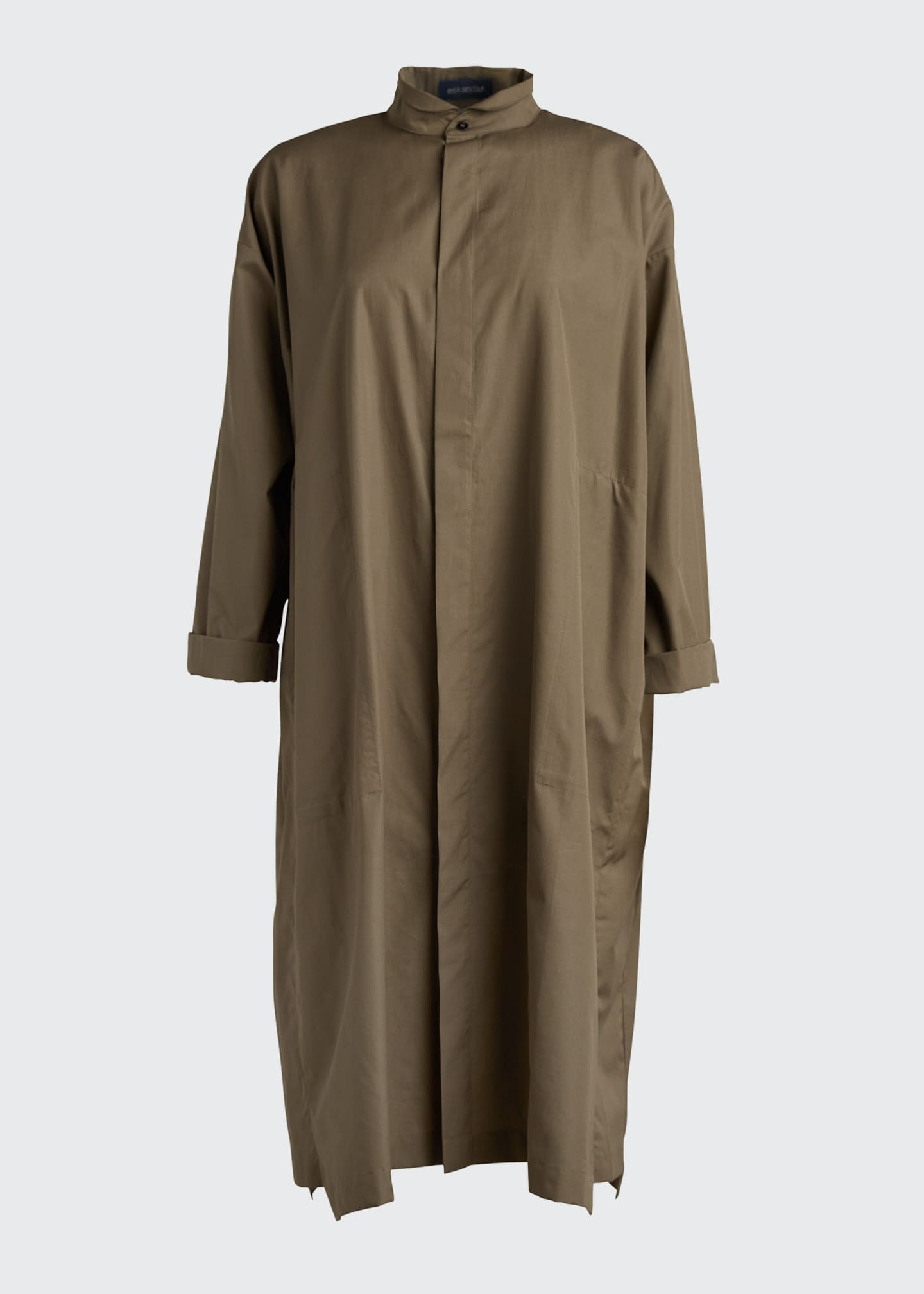 Image 5 of 5: Poplin Midi Shirtdress