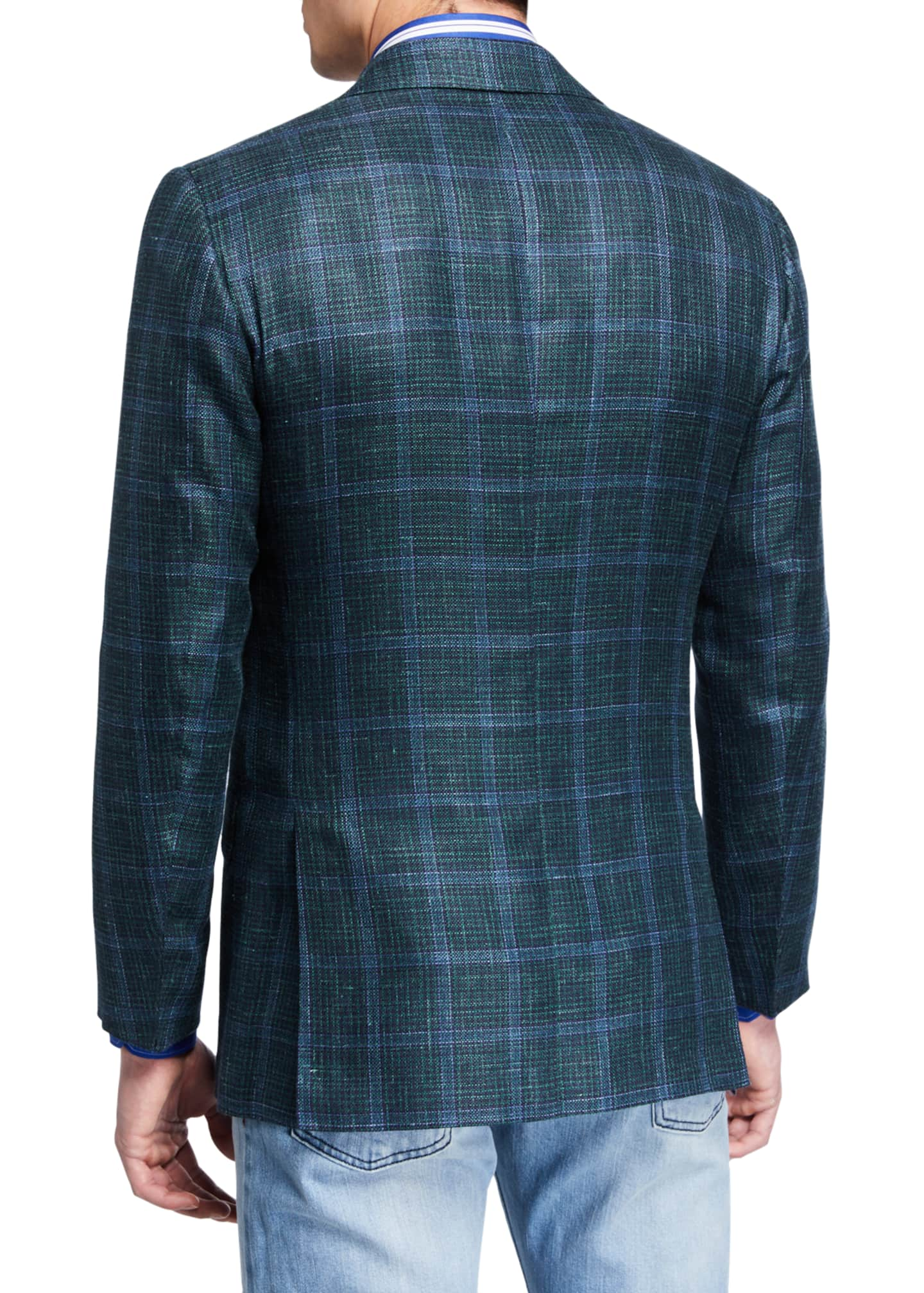 Image 2 of 3: Men's Windowpane Check Cashmere-Blend Sport Jacket