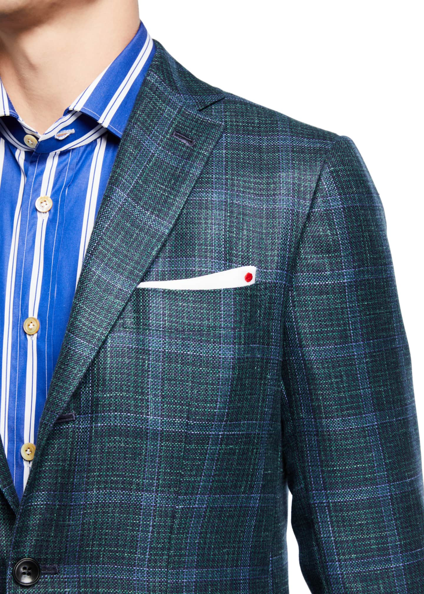 Image 3 of 3: Men's Windowpane Check Cashmere-Blend Sport Jacket