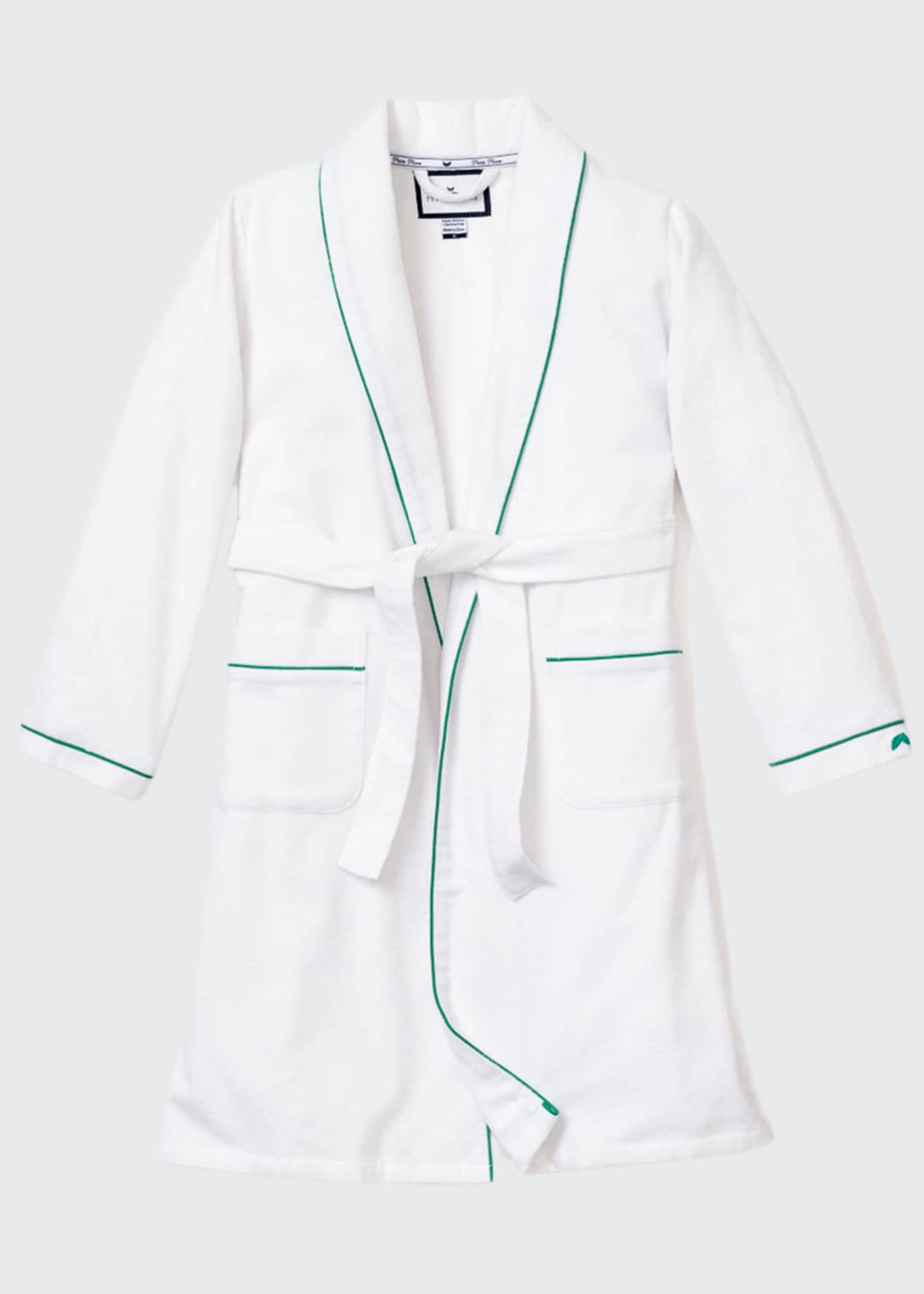 Petite Plume Kid's Flannel Contrast Piping Robe, Size