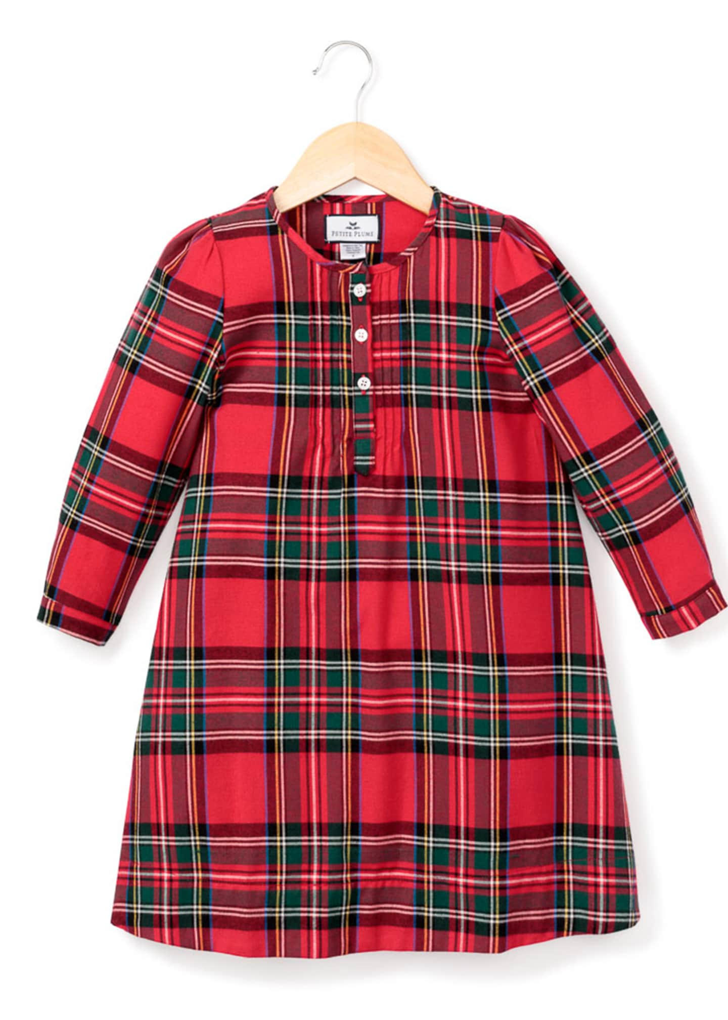 Image 1 of 1: Beatrice Tartan Plaid Nightgown, Size 6M-14