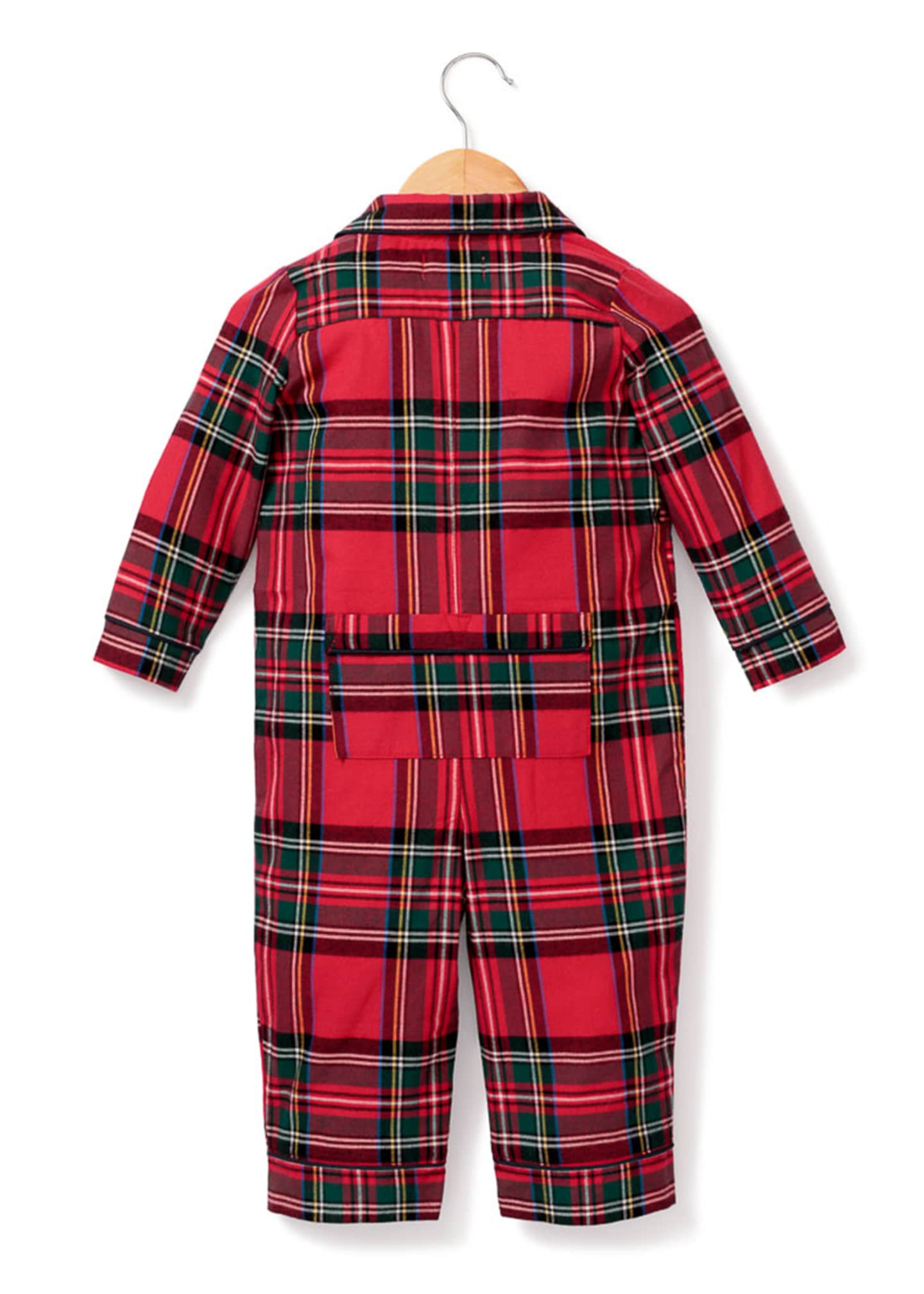 Image 2 of 2: Imperial Tartan Plaid Pajama Coverall, Size 0-24 Months