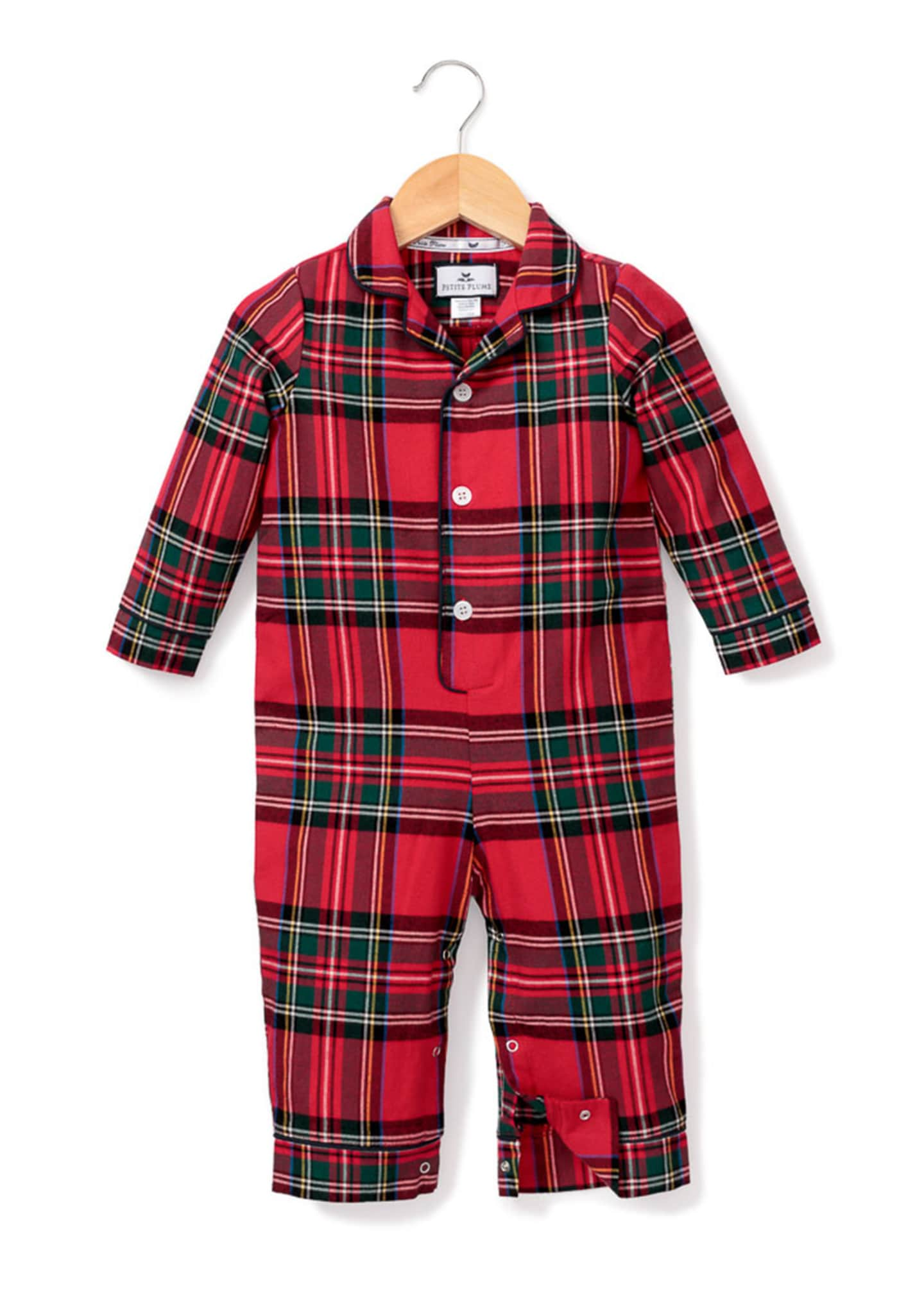 Image 1 of 2: Imperial Tartan Plaid Pajama Coverall, Size 0-24 Months