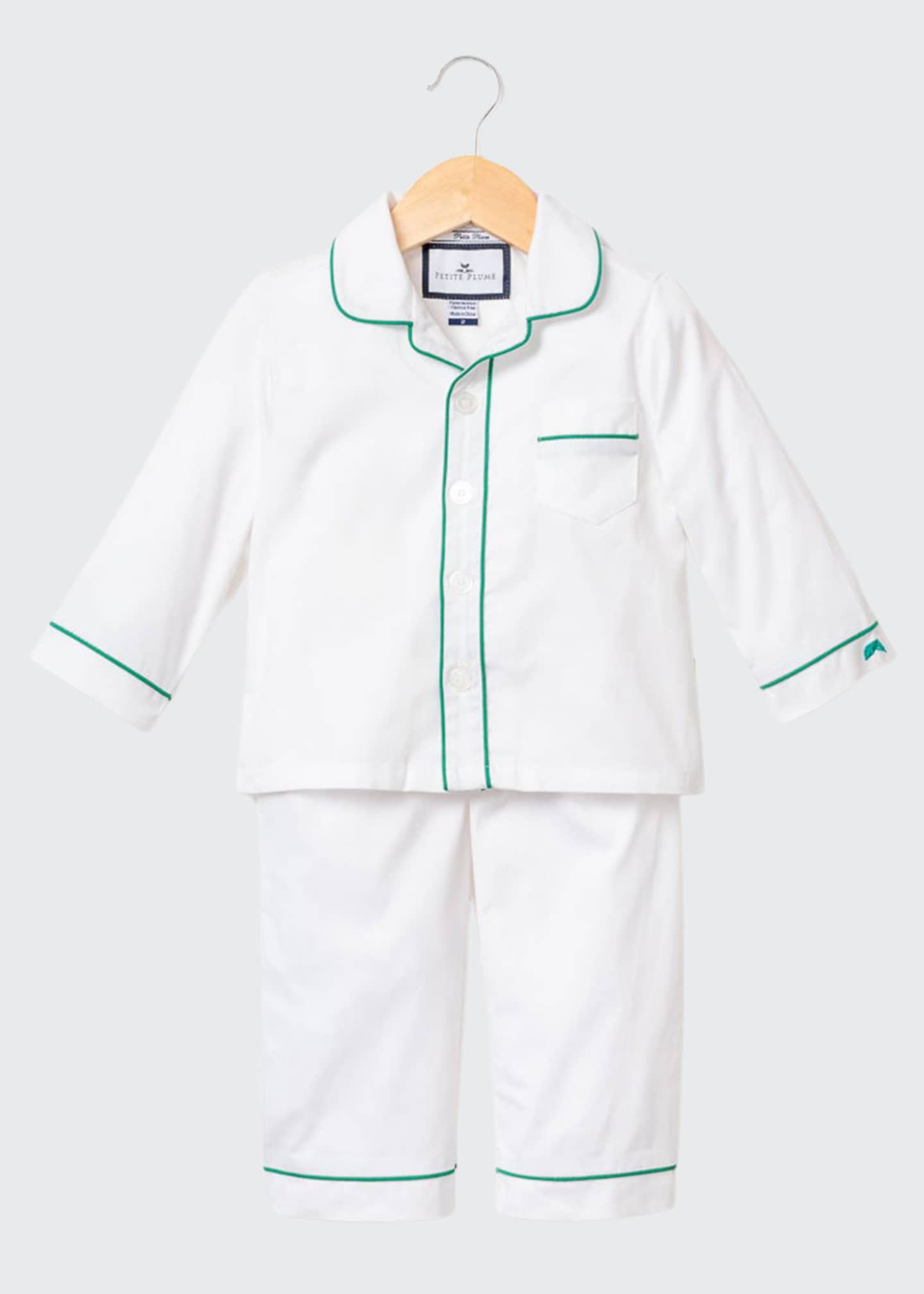 Image 1 of 1: Contrast Piping Two-Piece Pajama Set, Size 6M-14