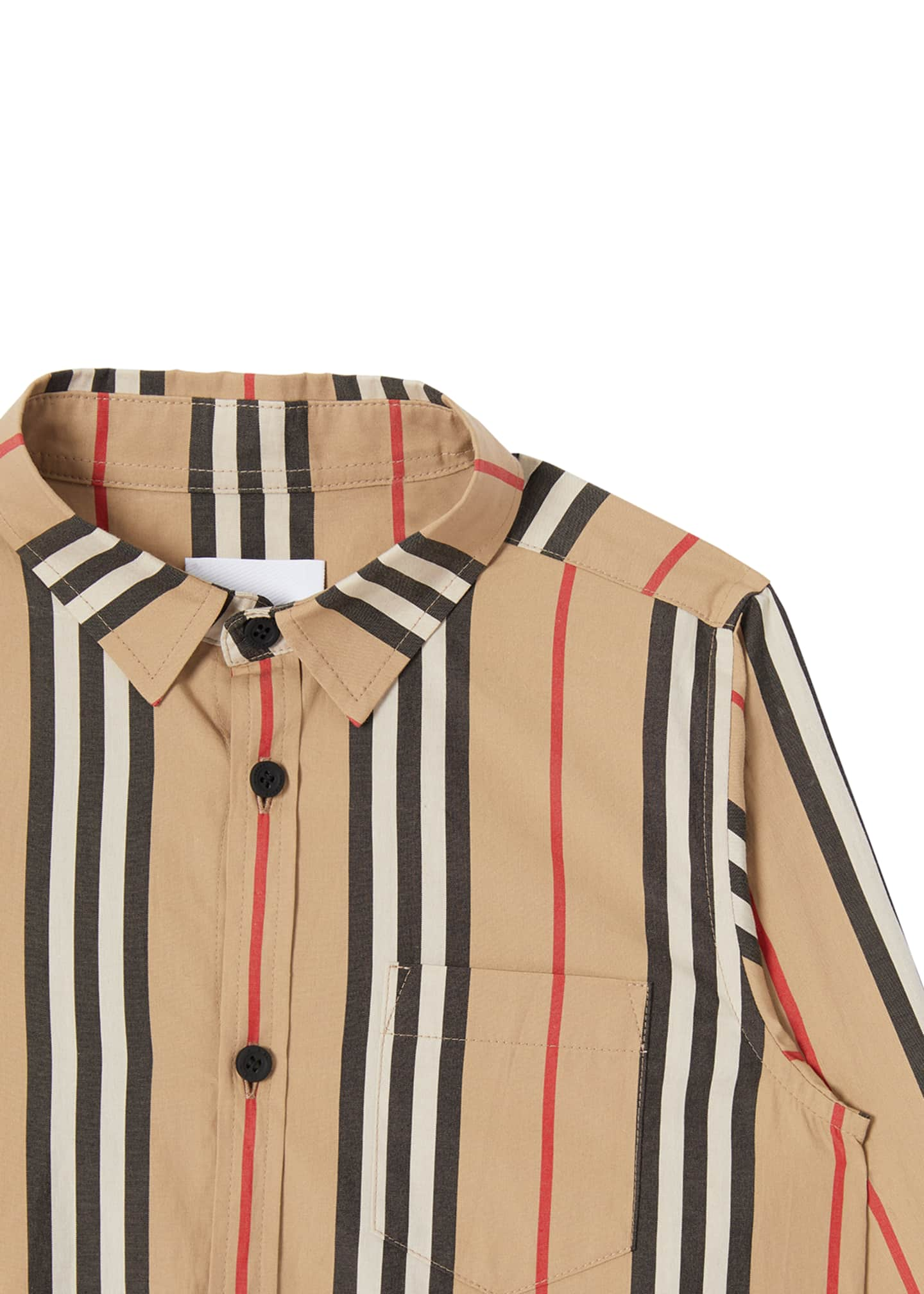 Image 2 of 3: Boy's Fredrick Icon Stripe Long-Sleeve Shirt, Size 3-14