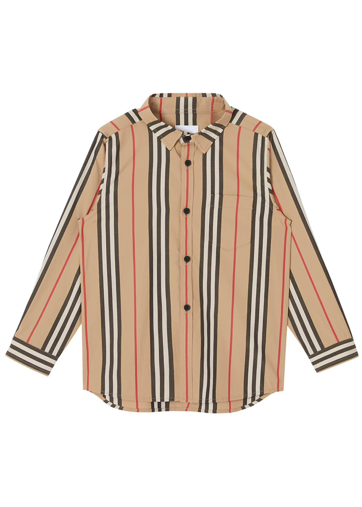 Boy's Fredrick Icon Stripe Long-Sleeve Shirt, Size 3-14