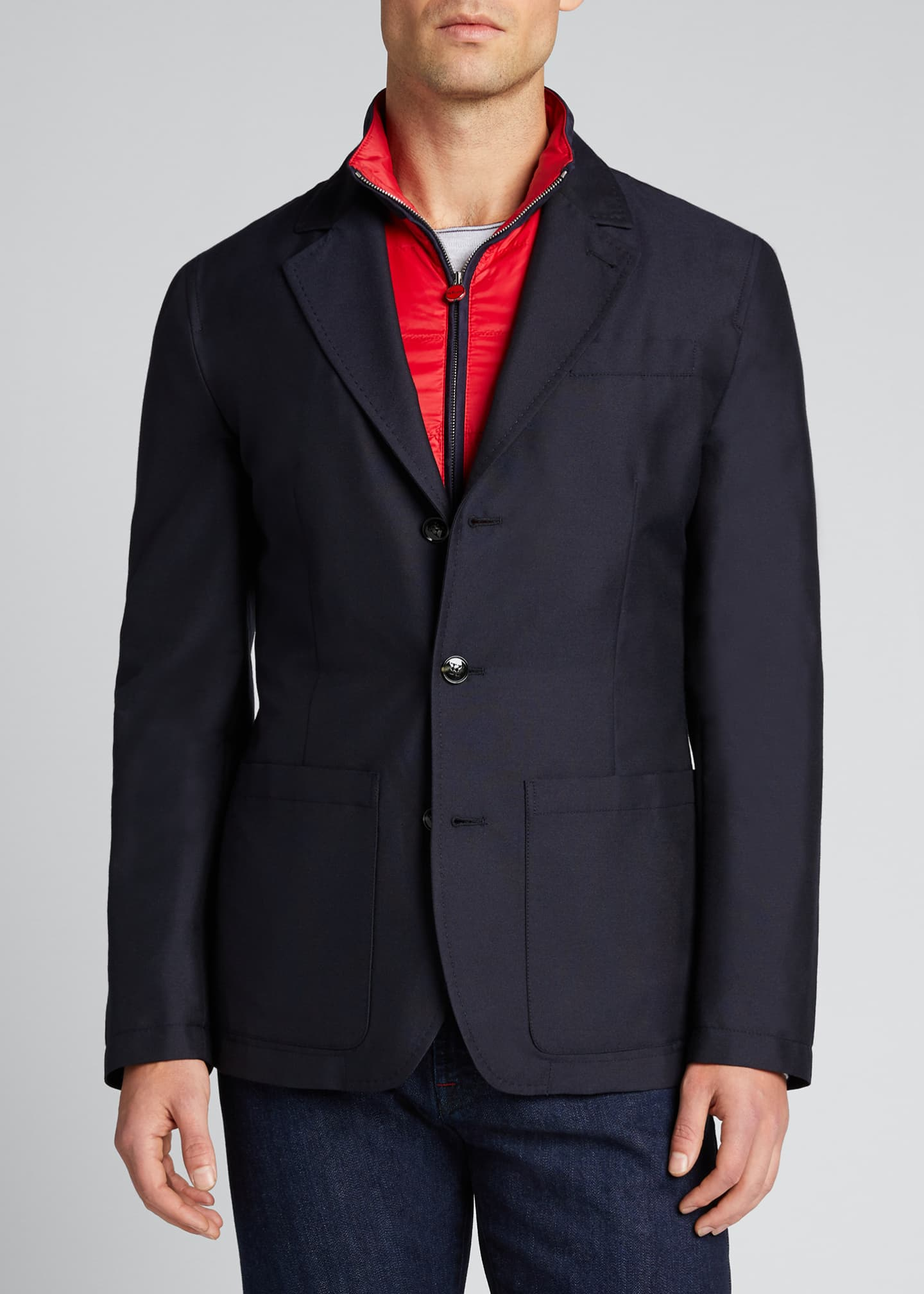 Image 3 of 4: Men's Tech Jacket w/ Removable Vest