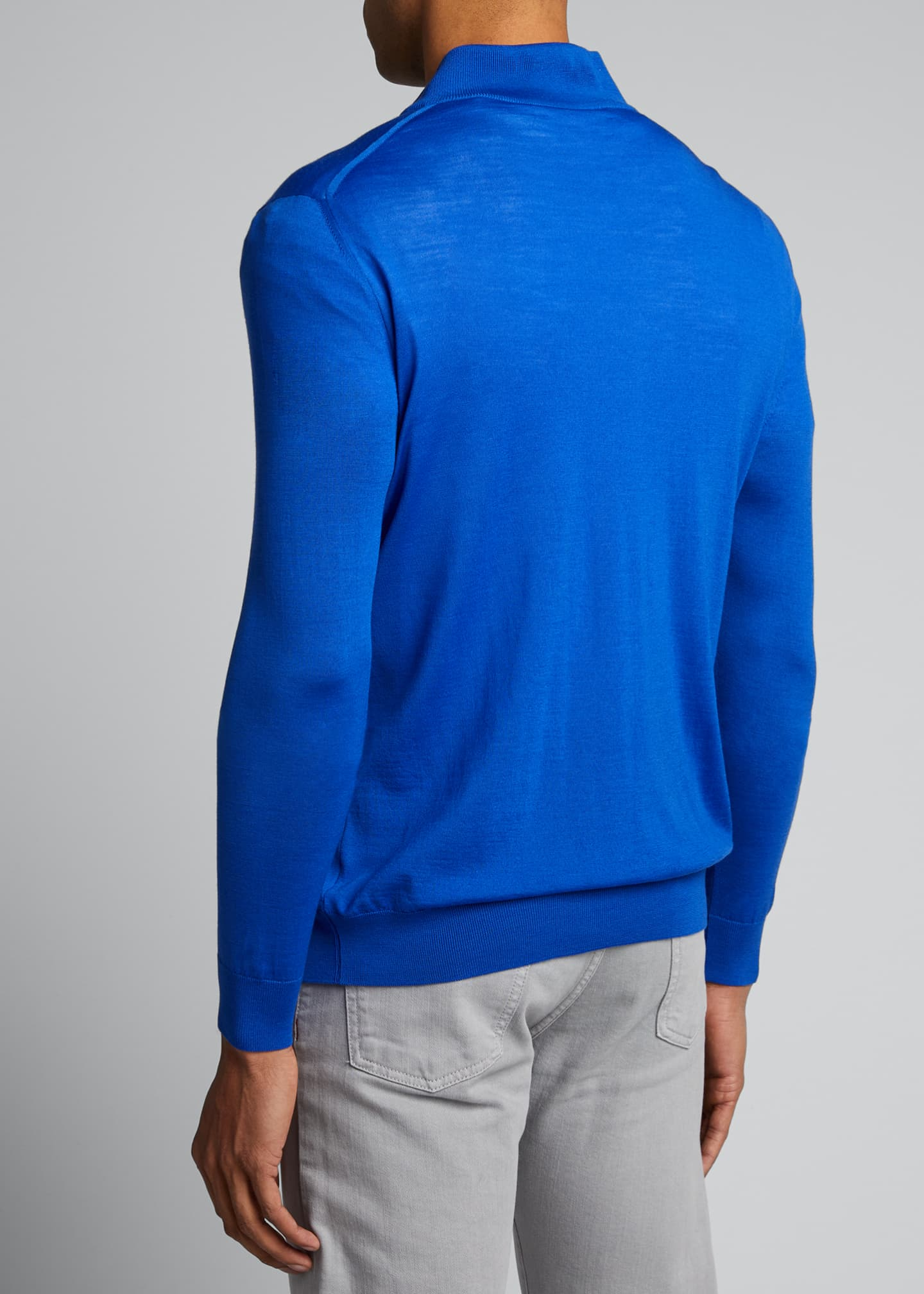 Image 2 of 5: Men's Quarter-Zip Wool Sweater
