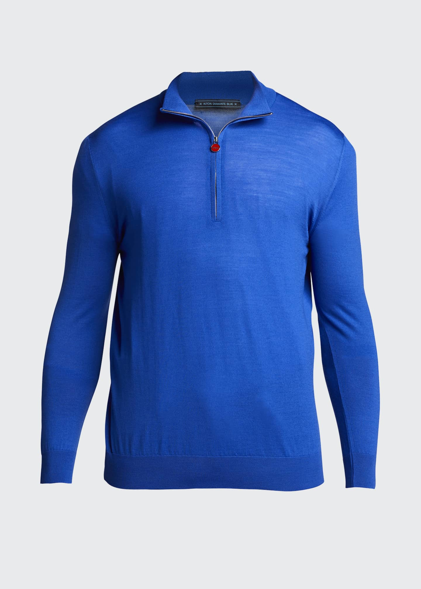 Image 5 of 5: Men's Quarter-Zip Wool Sweater