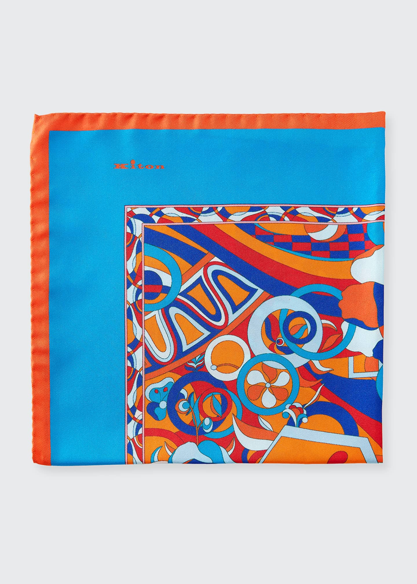 Image 1 of 1: Men's Psychedelic Silk Pocket Square