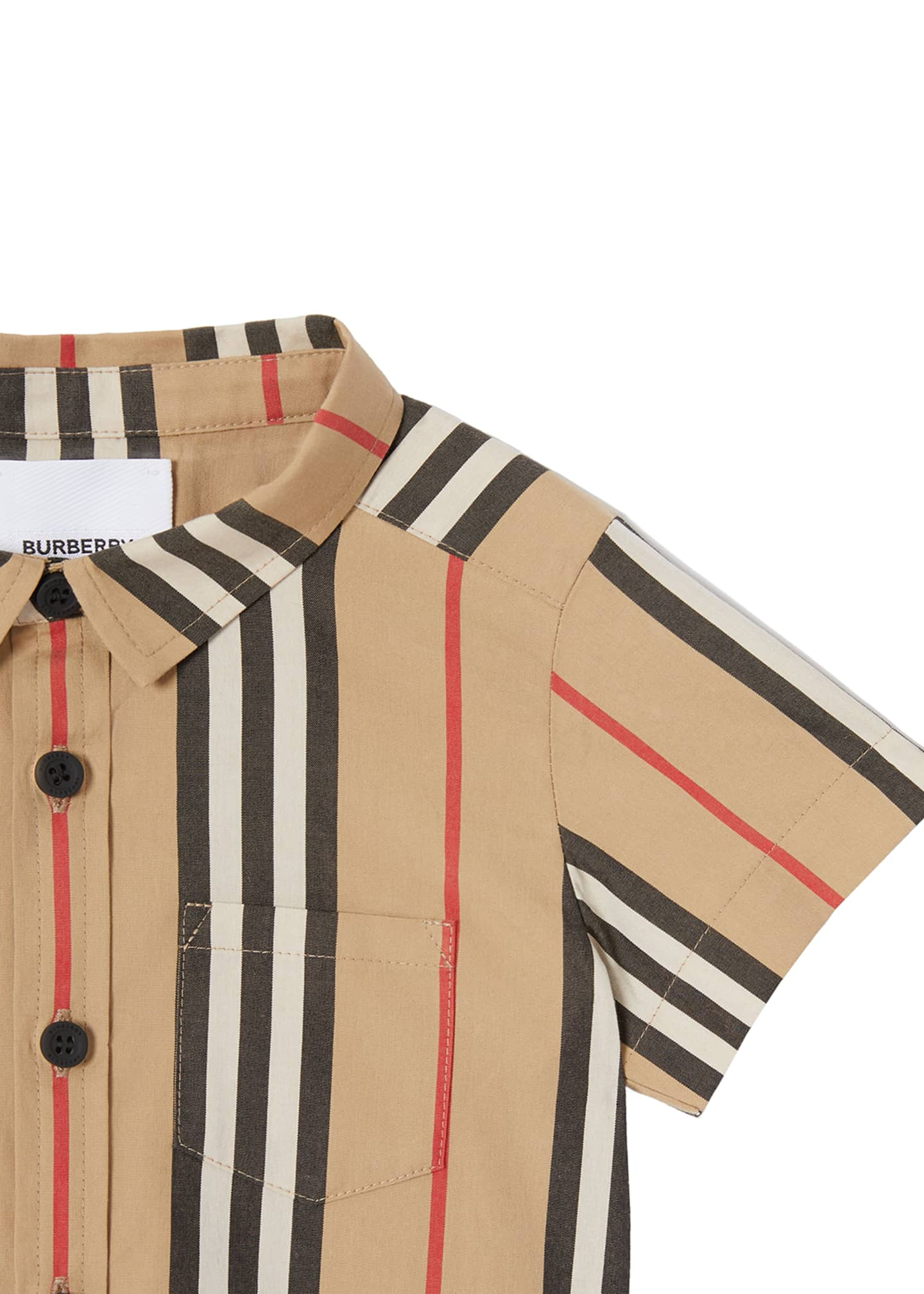 Image 2 of 4: Boy's Fredrick Icon Stripe Shirt, Size 6M-2