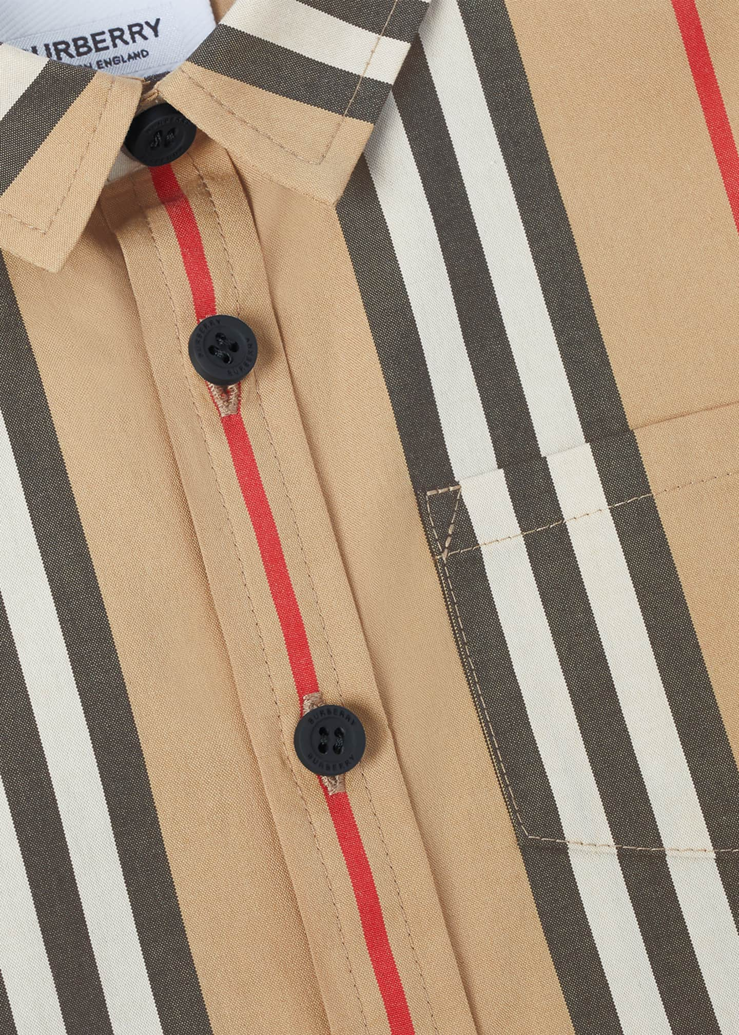 Image 4 of 4: Boy's Fredrick Icon Stripe Shirt, Size 6M-2