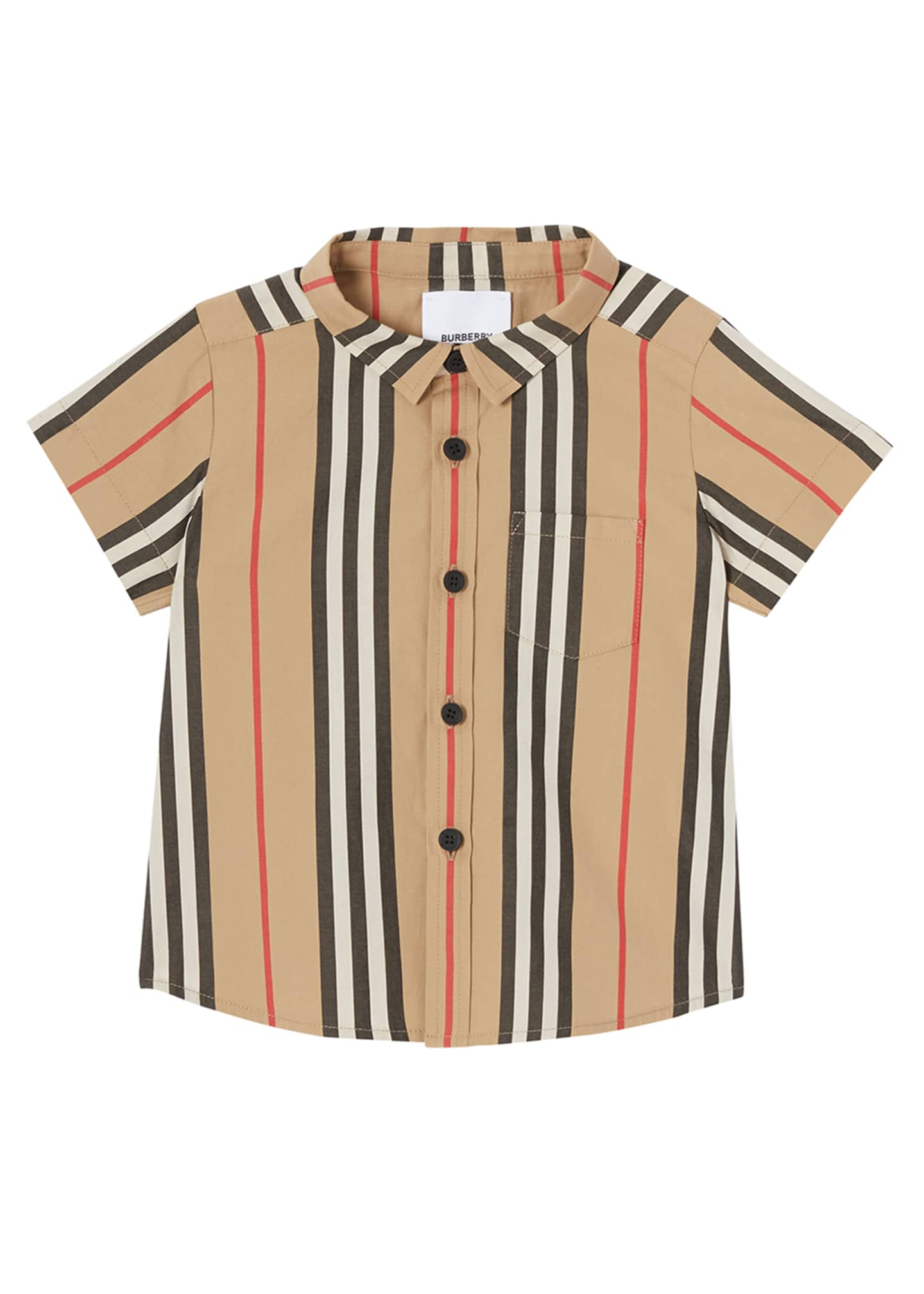 Image 1 of 4: Boy's Fredrick Icon Stripe Shirt, Size 6M-2