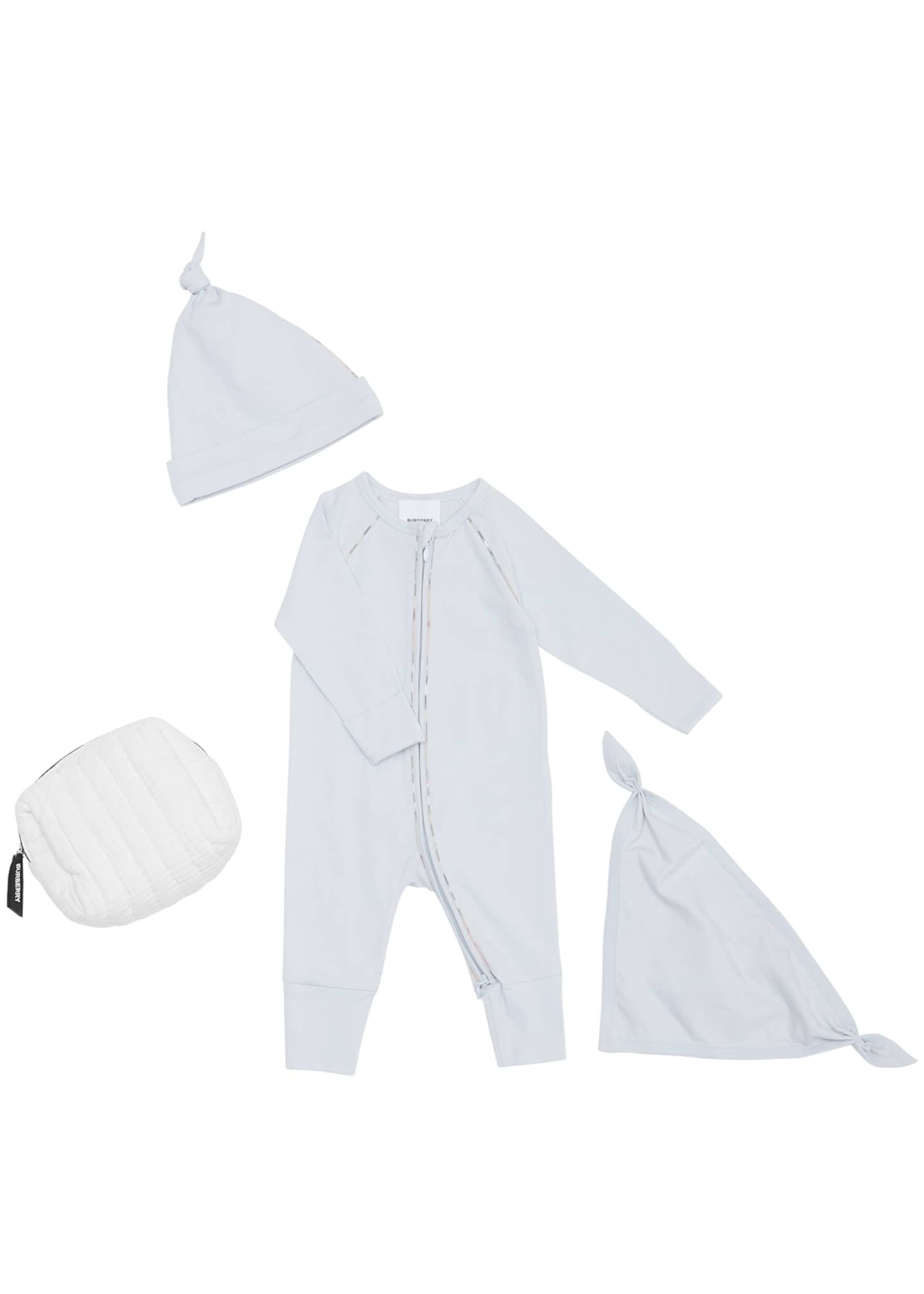 Image 1 of 4: Dixie Zip Coverall w/ Hat & Bib, Size 1-12 Months