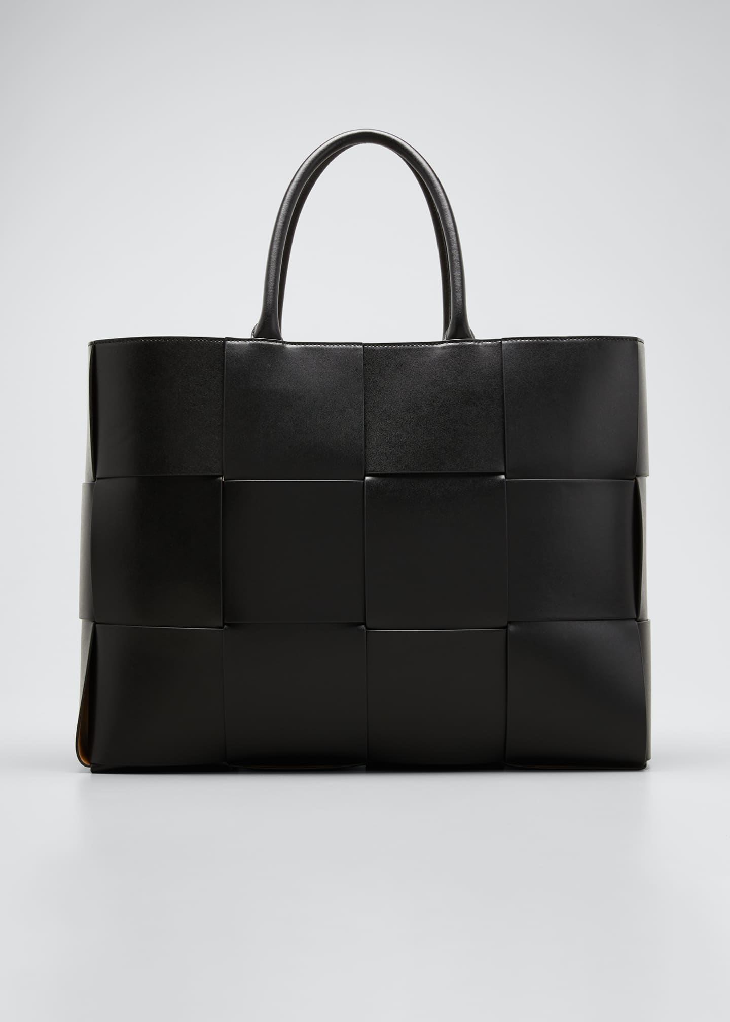 Image 1 of 5: Men's Borsa Large Woven Leather Tote Bag