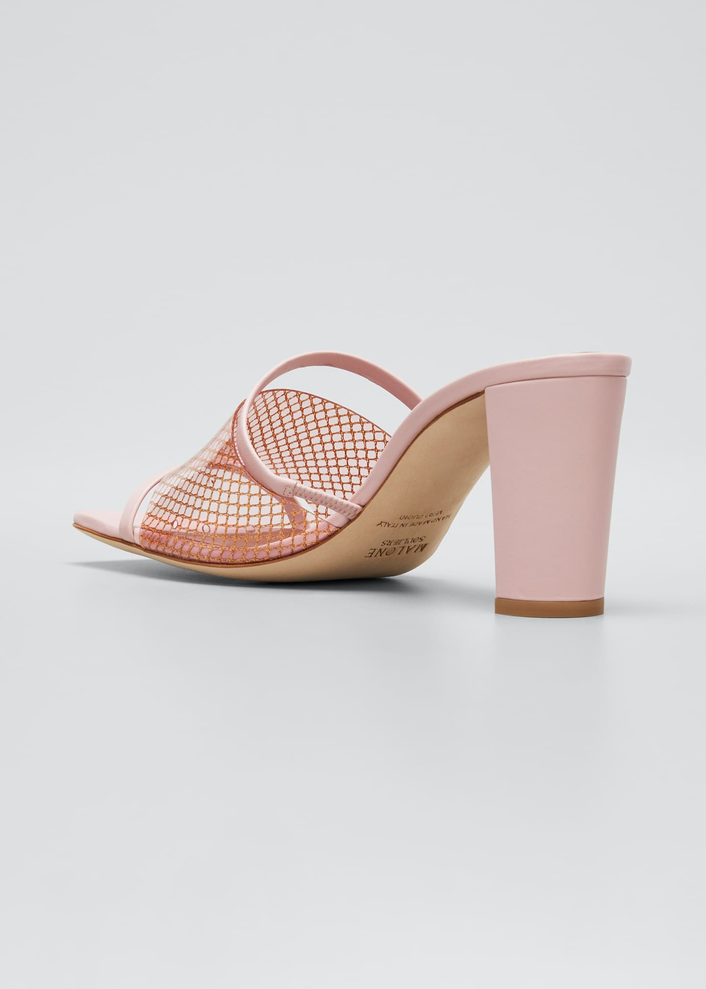 Image 4 of 5: Demi 70mm PVC Woven Metallic Mule Sandals