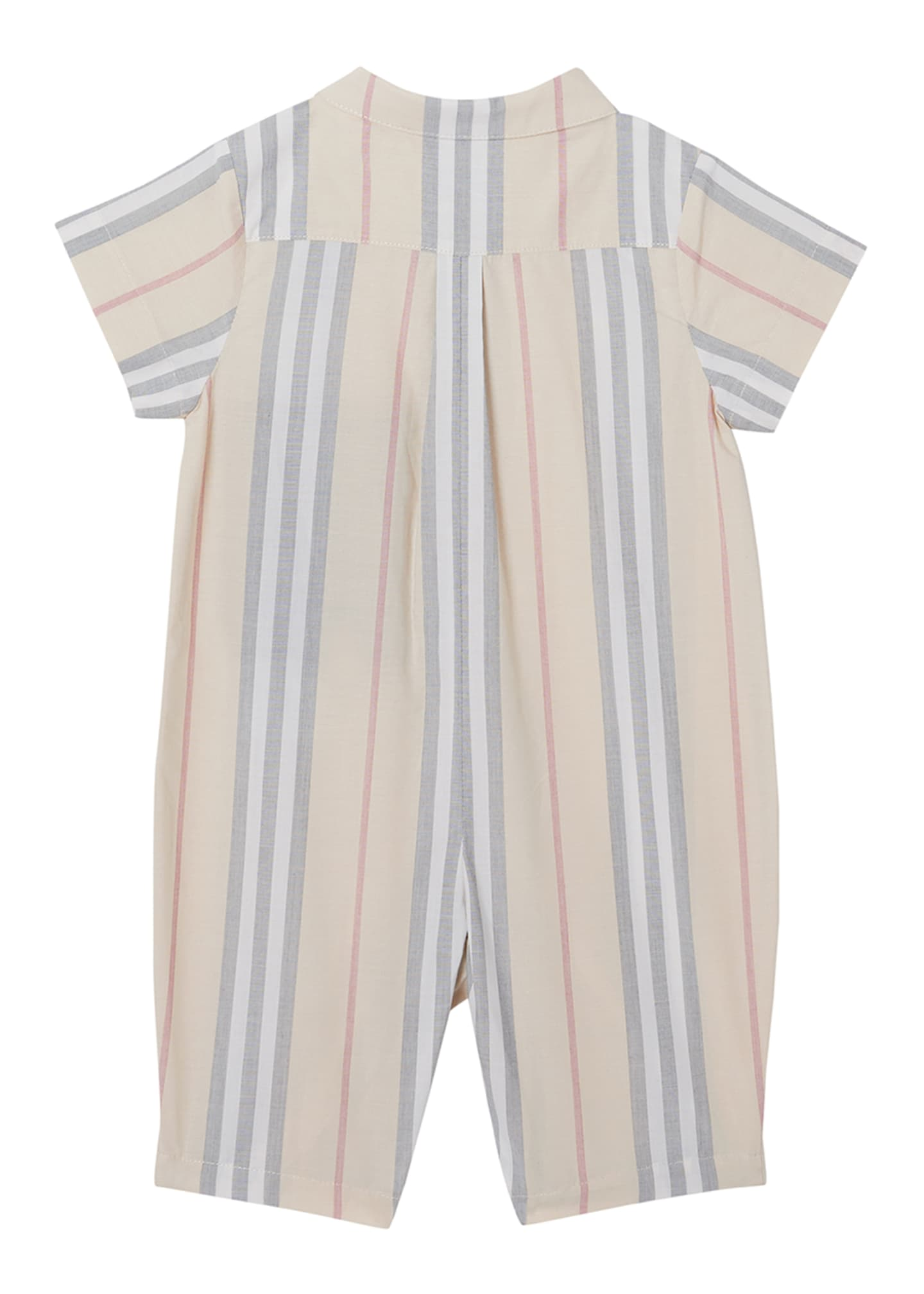 Image 3 of 3: Boy's Kirk Check Romper, Size 3-18 Months