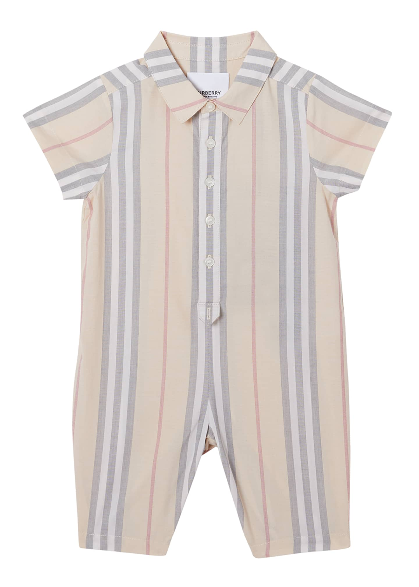Image 1 of 3: Boy's Kirk Check Romper, Size 3-18 Months