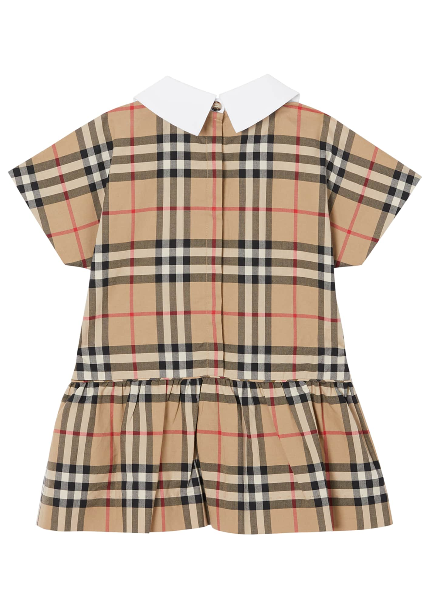 Image 3 of 4: Girl's Robyn Check Short-Sleeve Dress, Size 6M-2