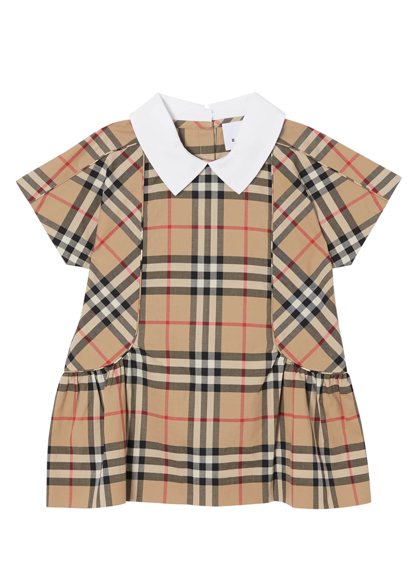 Image 1 of 4: Girl's Robyn Check Short-Sleeve Dress, Size 6M-2