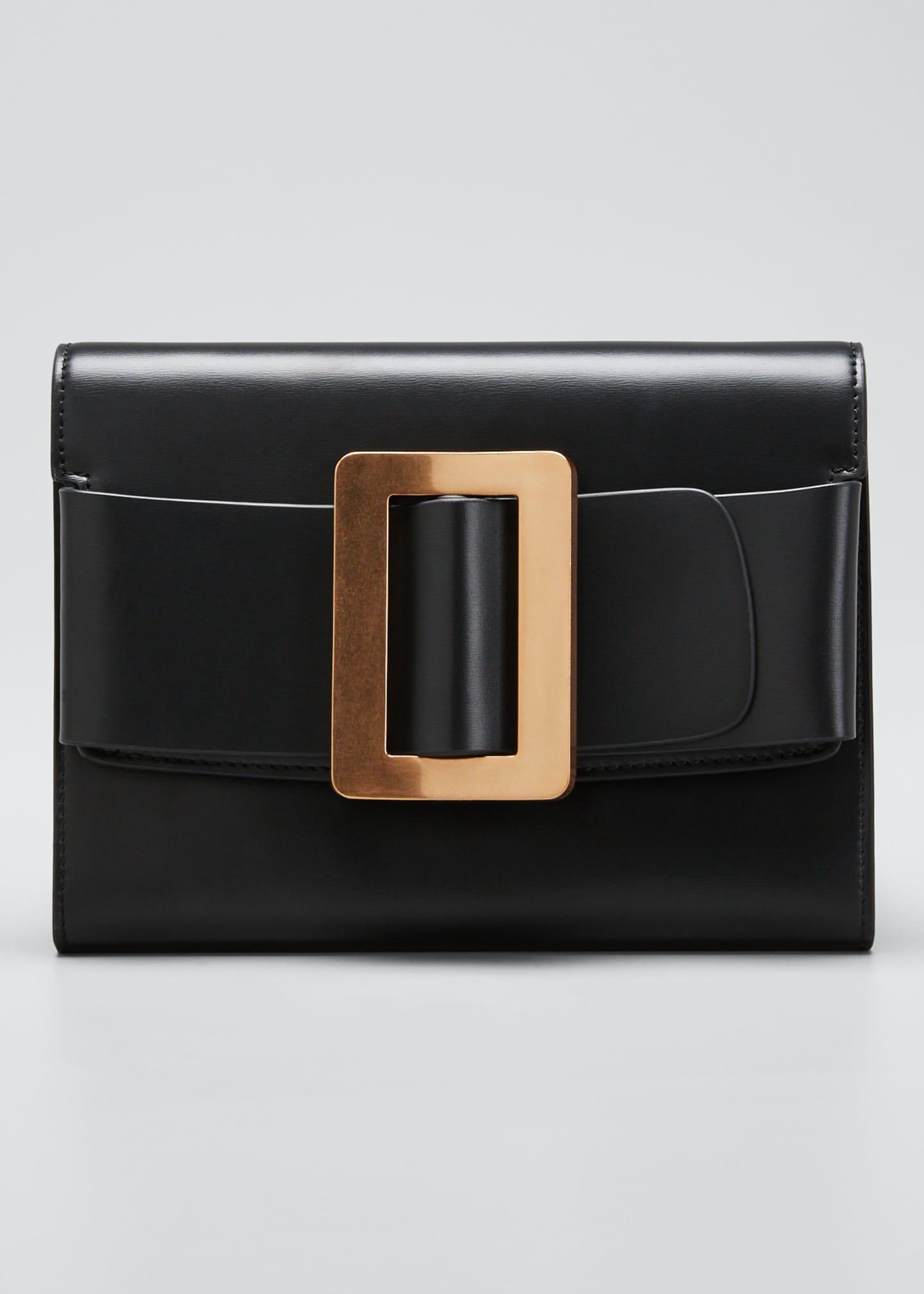 Boyy Leather Buckle Crossbody Clutch Bag