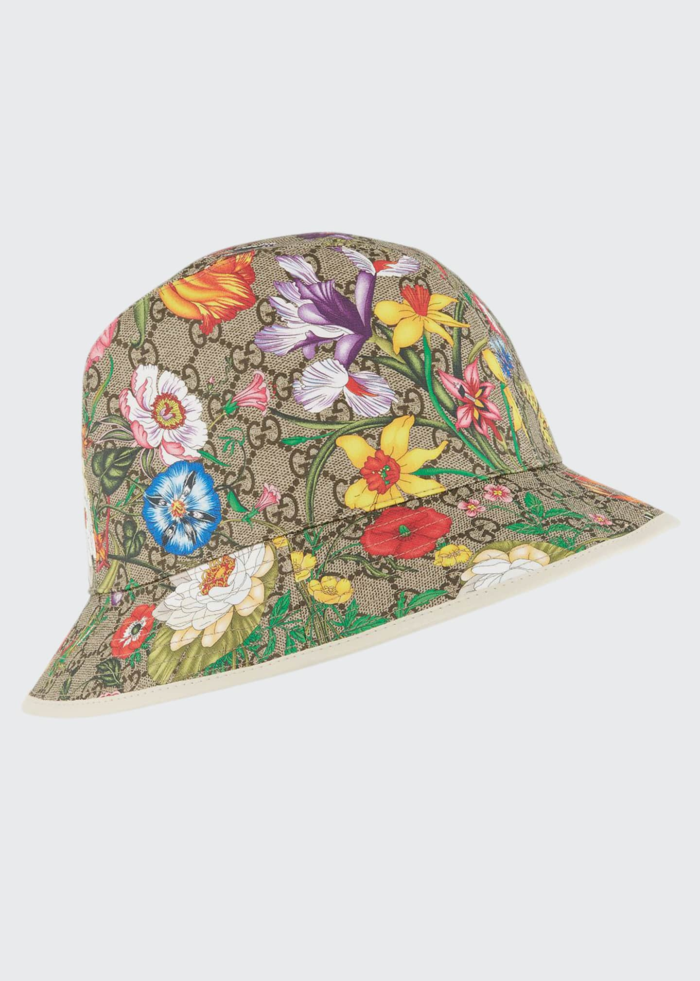 Gucci GG Supreme Flora Bucket Hat