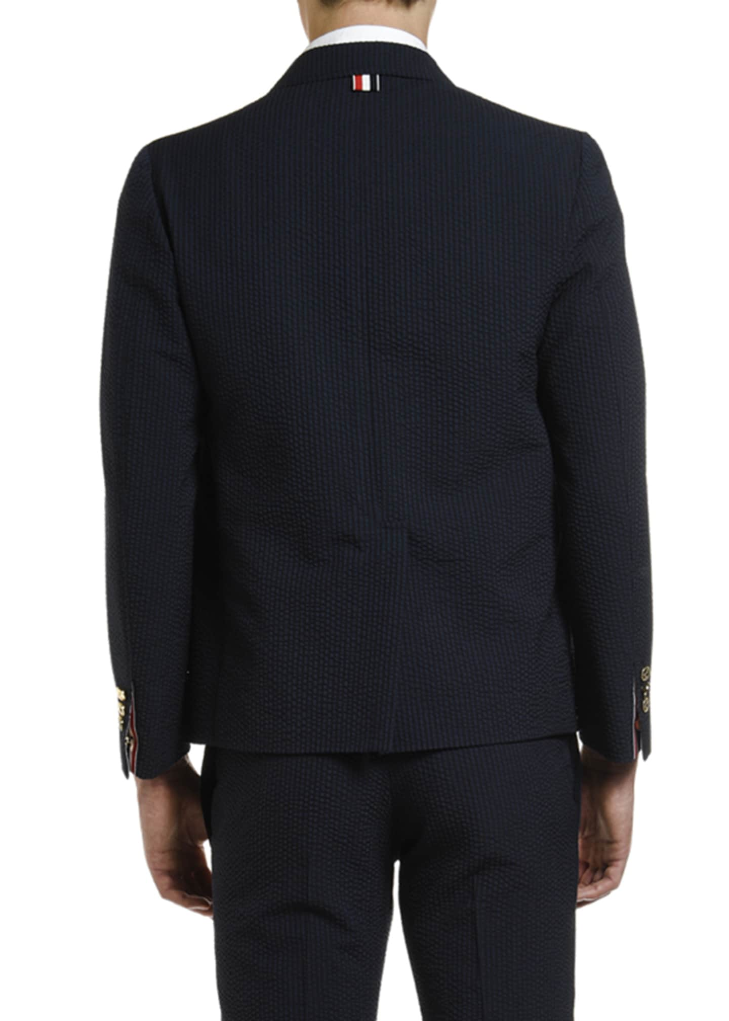 Image 2 of 4: Men's Wool Seersucker Unconstructed Sport Jacket