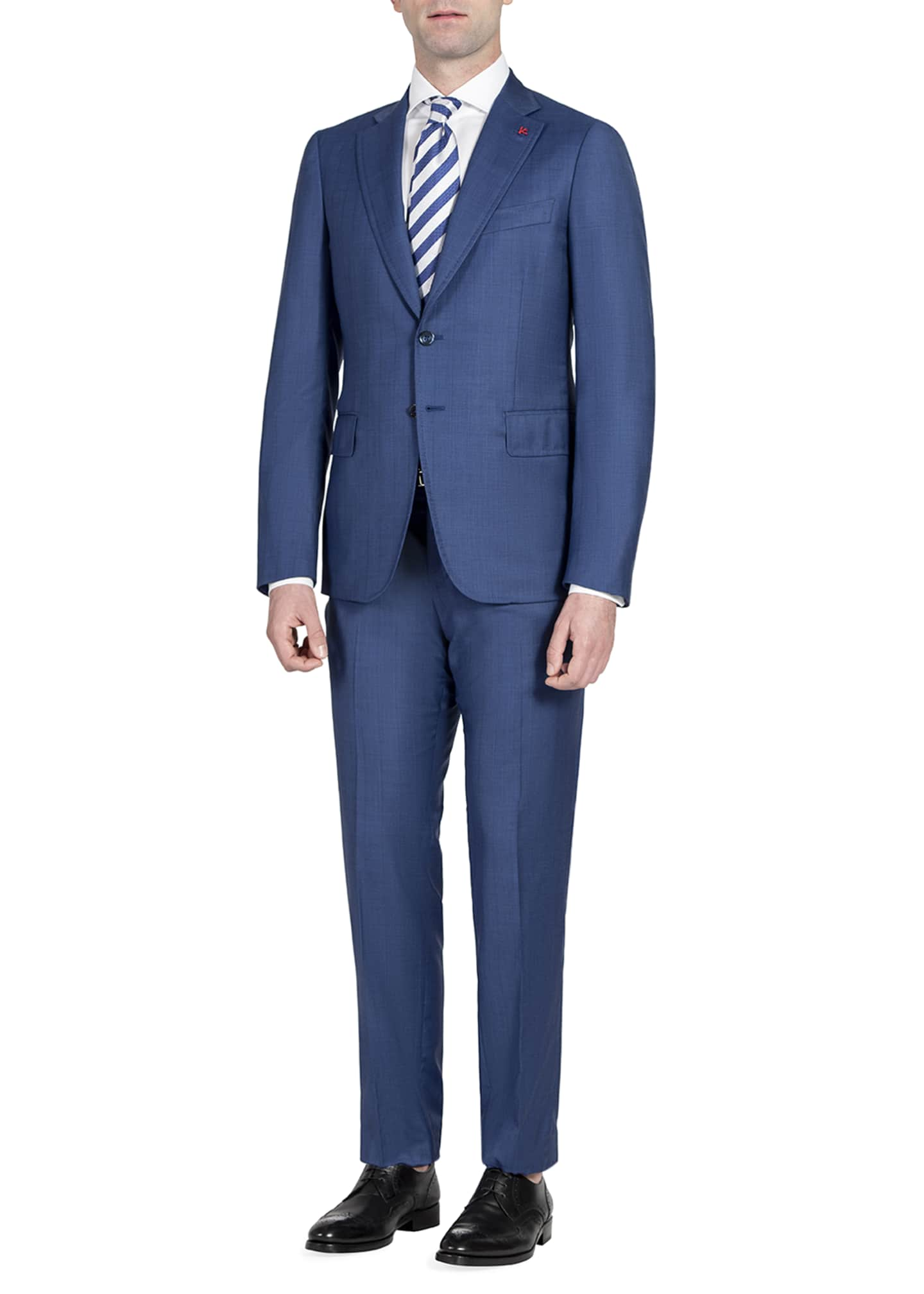 Image 3 of 4: Men's Tonal Stripe Two-Piece Suit