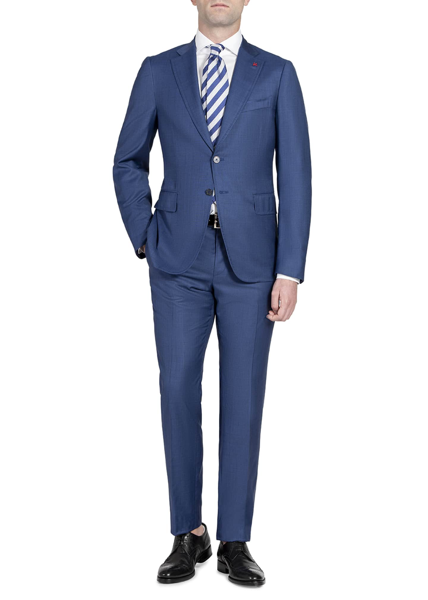 Image 1 of 4: Men's Tonal Stripe Two-Piece Suit