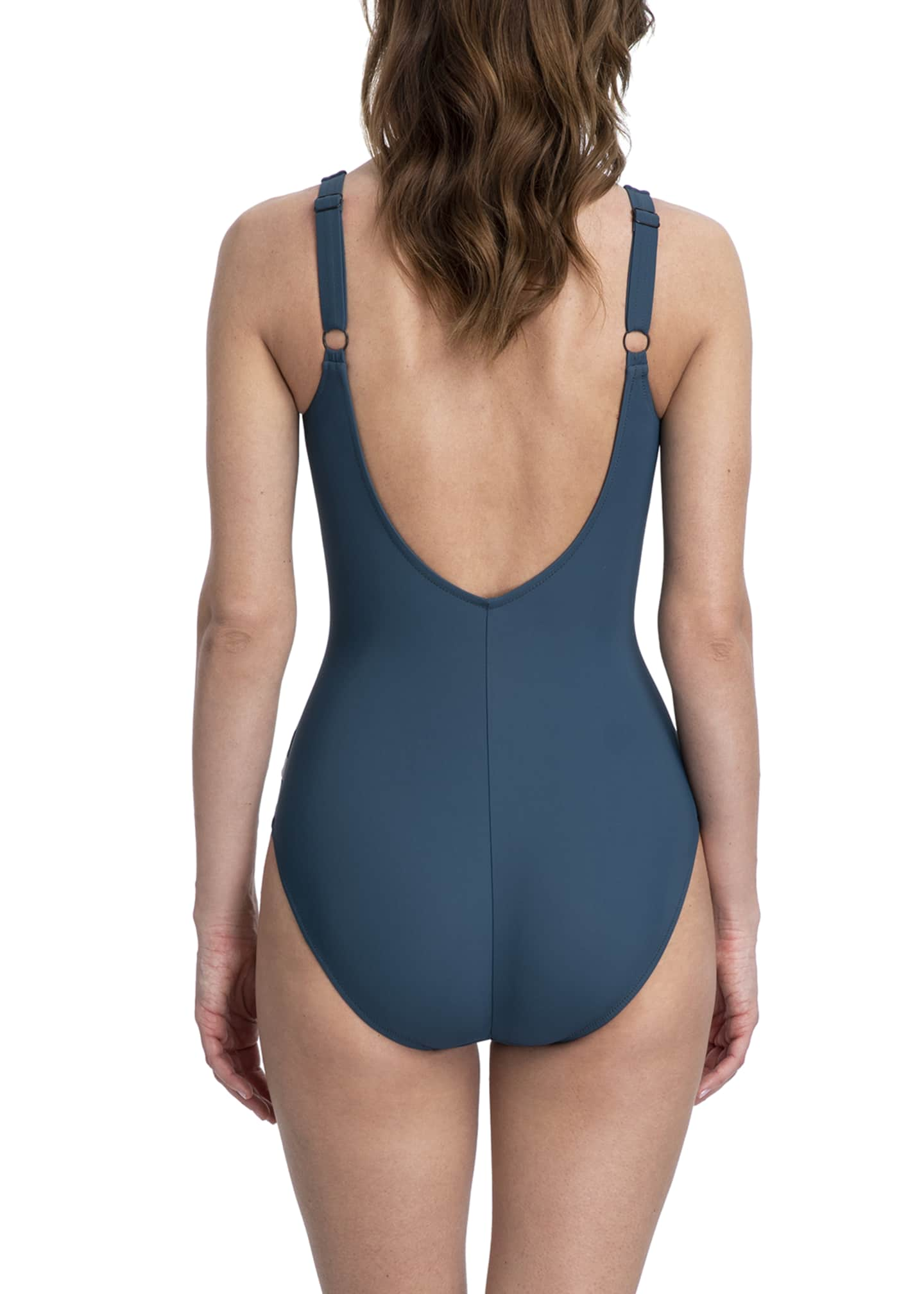 Image 2 of 3: Mirage Square-Neck Tank One-Piece Swimsuit