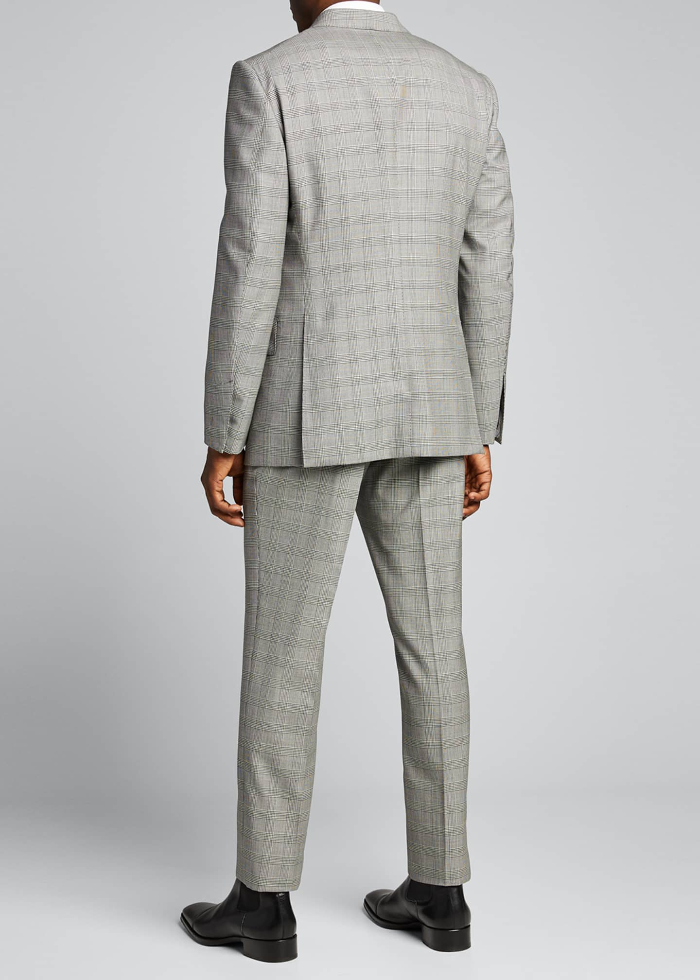 Image 2 of 5: Men's Prince of Wales Wool Two-Piece Suit