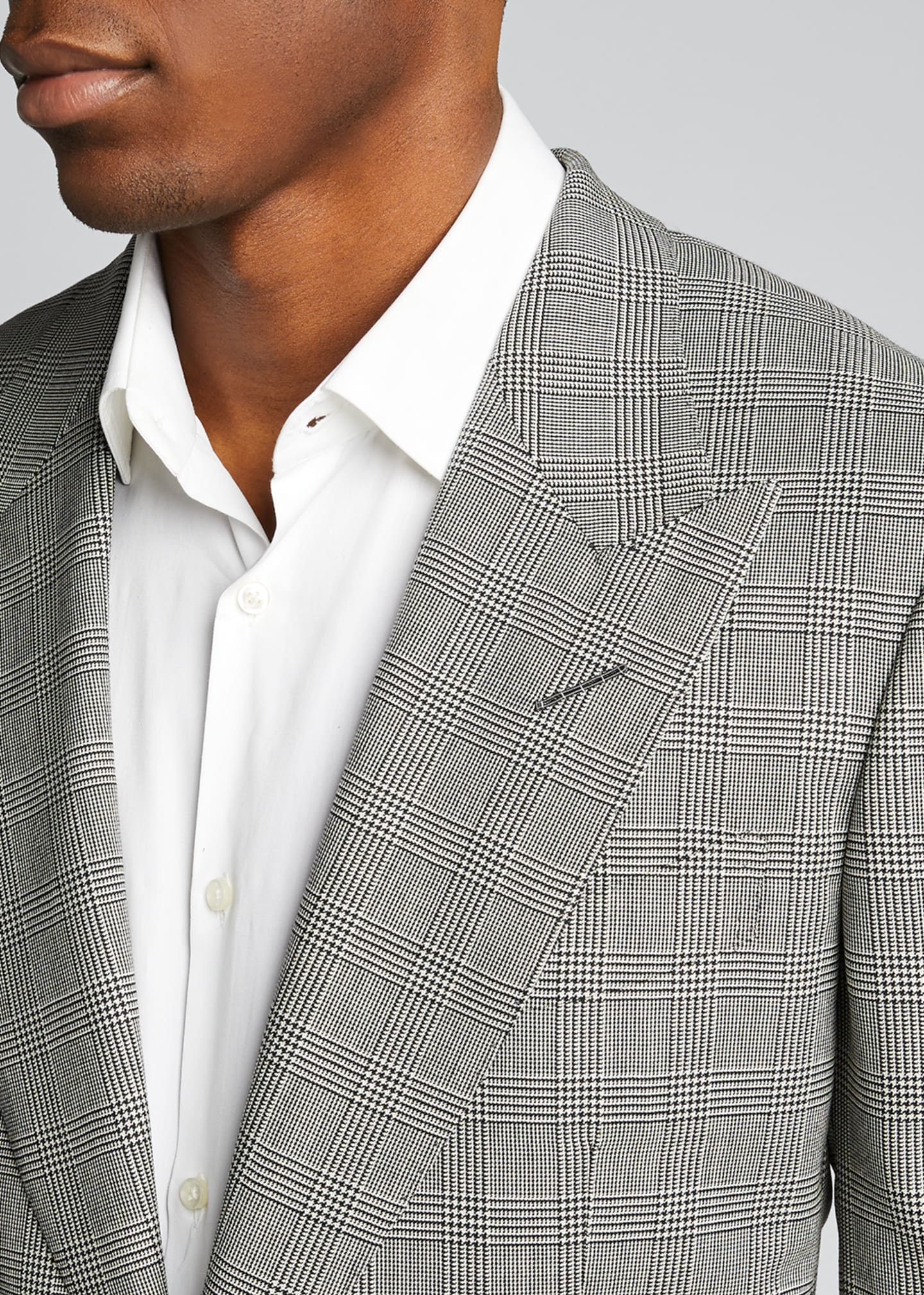 Image 4 of 5: Men's Prince of Wales Wool Two-Piece Suit