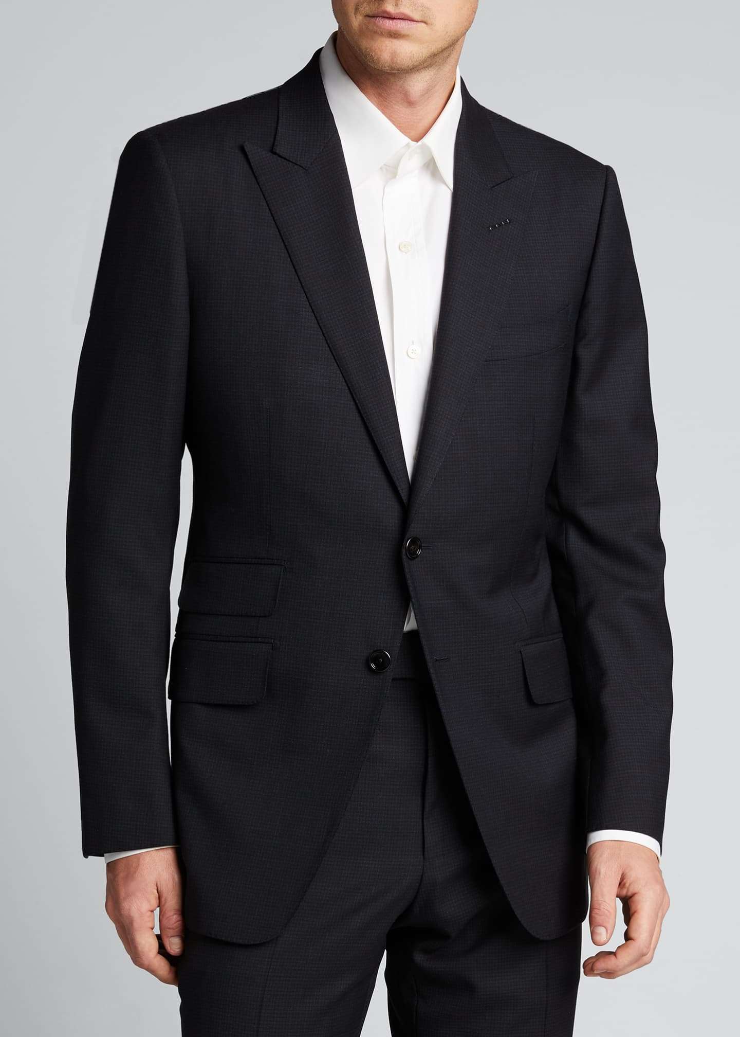 Image 3 of 5: Men's O'Connor Base Micro-Check Two-Piece Suit
