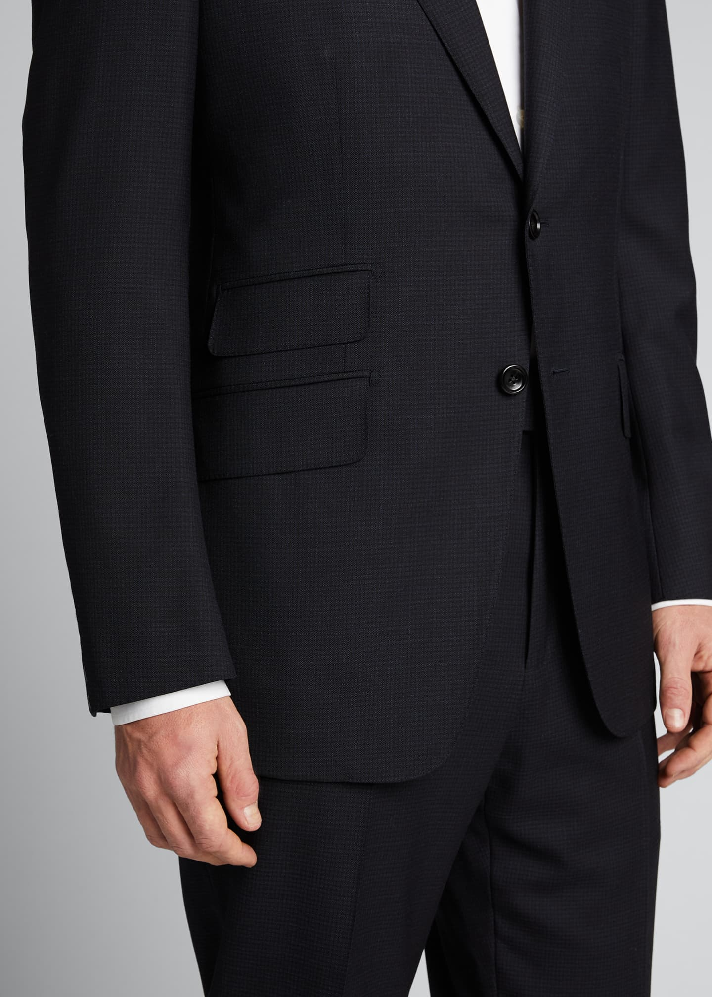 Image 4 of 5: Men's O'Connor Base Micro-Check Two-Piece Suit
