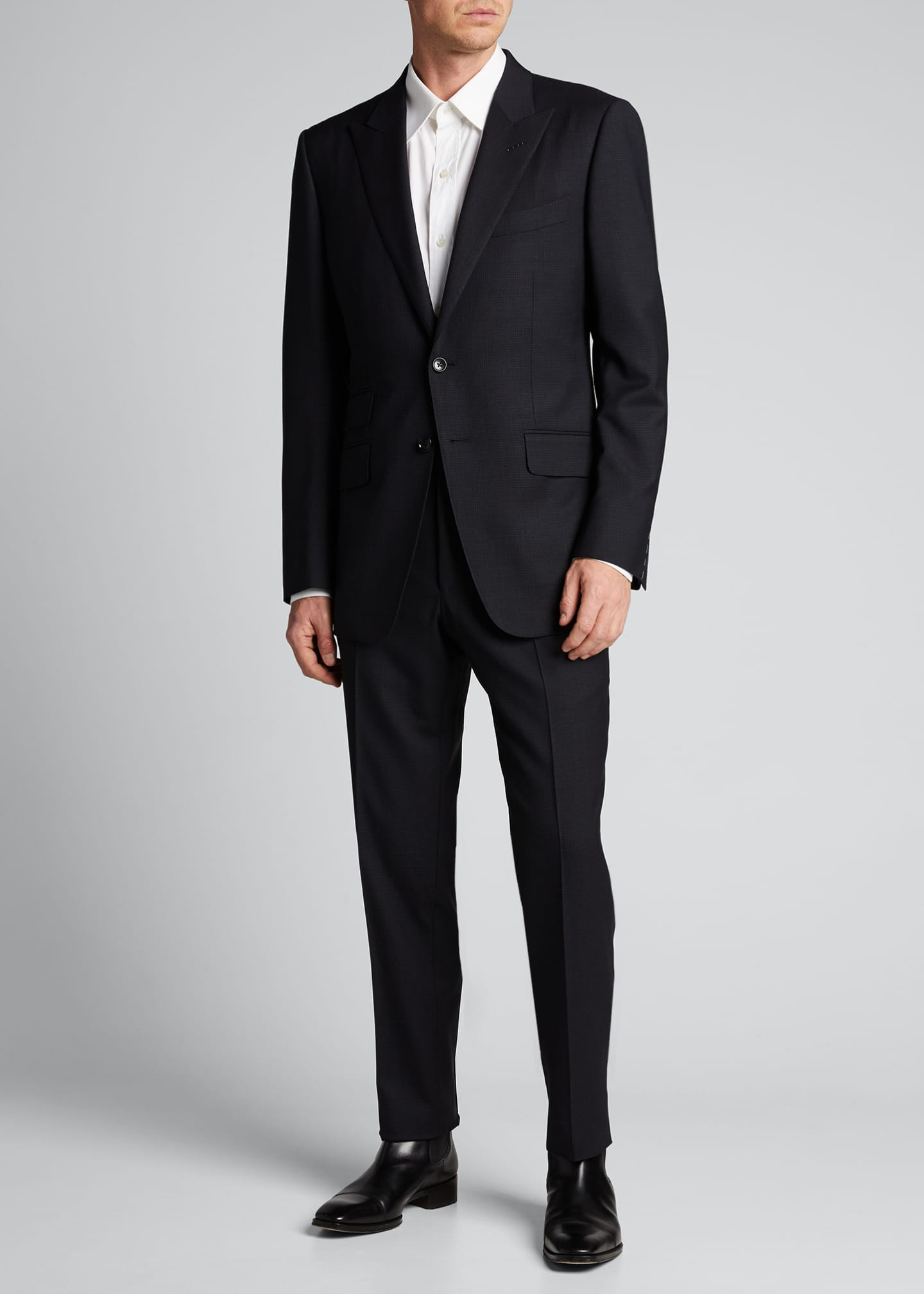 Image 1 of 5: Men's O'Connor Base Micro-Check Two-Piece Suit