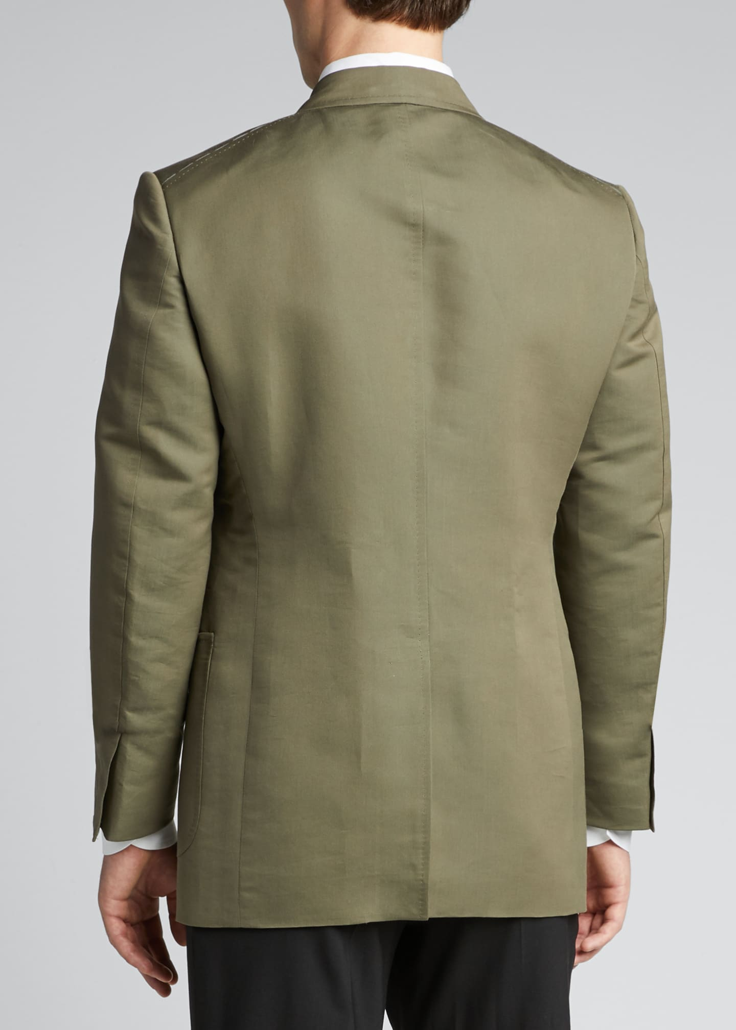 Image 2 of 5: Men's Peak-Lapel Poplin Shelton Dinner Jacket