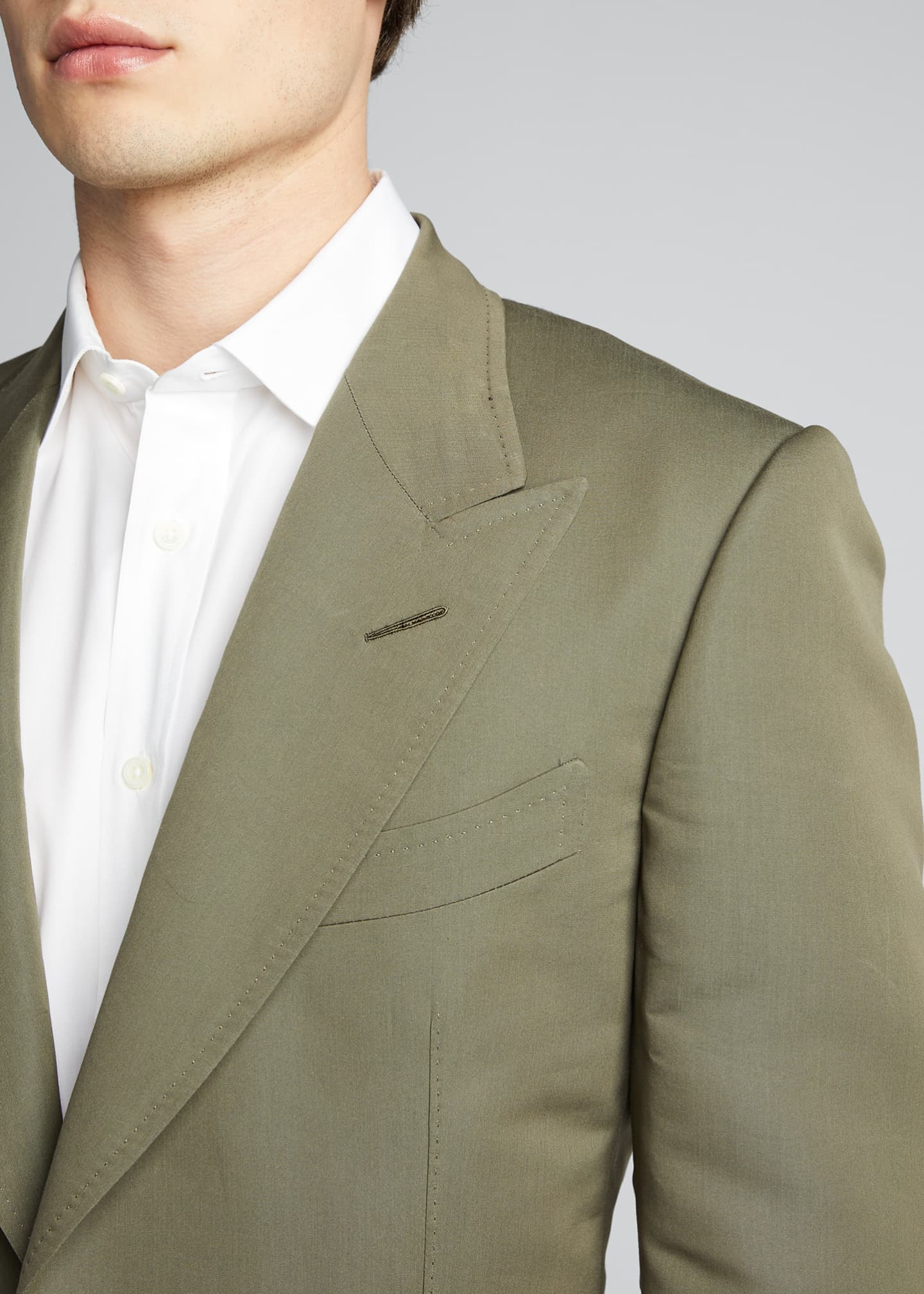 Image 4 of 5: Men's Peak-Lapel Poplin Shelton Dinner Jacket