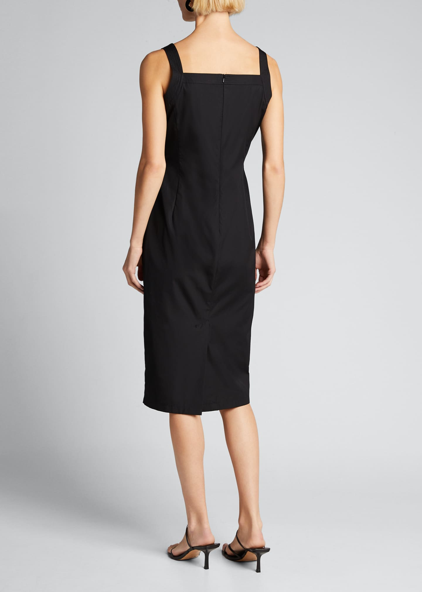 Image 2 of 5: Cotton Poplin Ruched Dress
