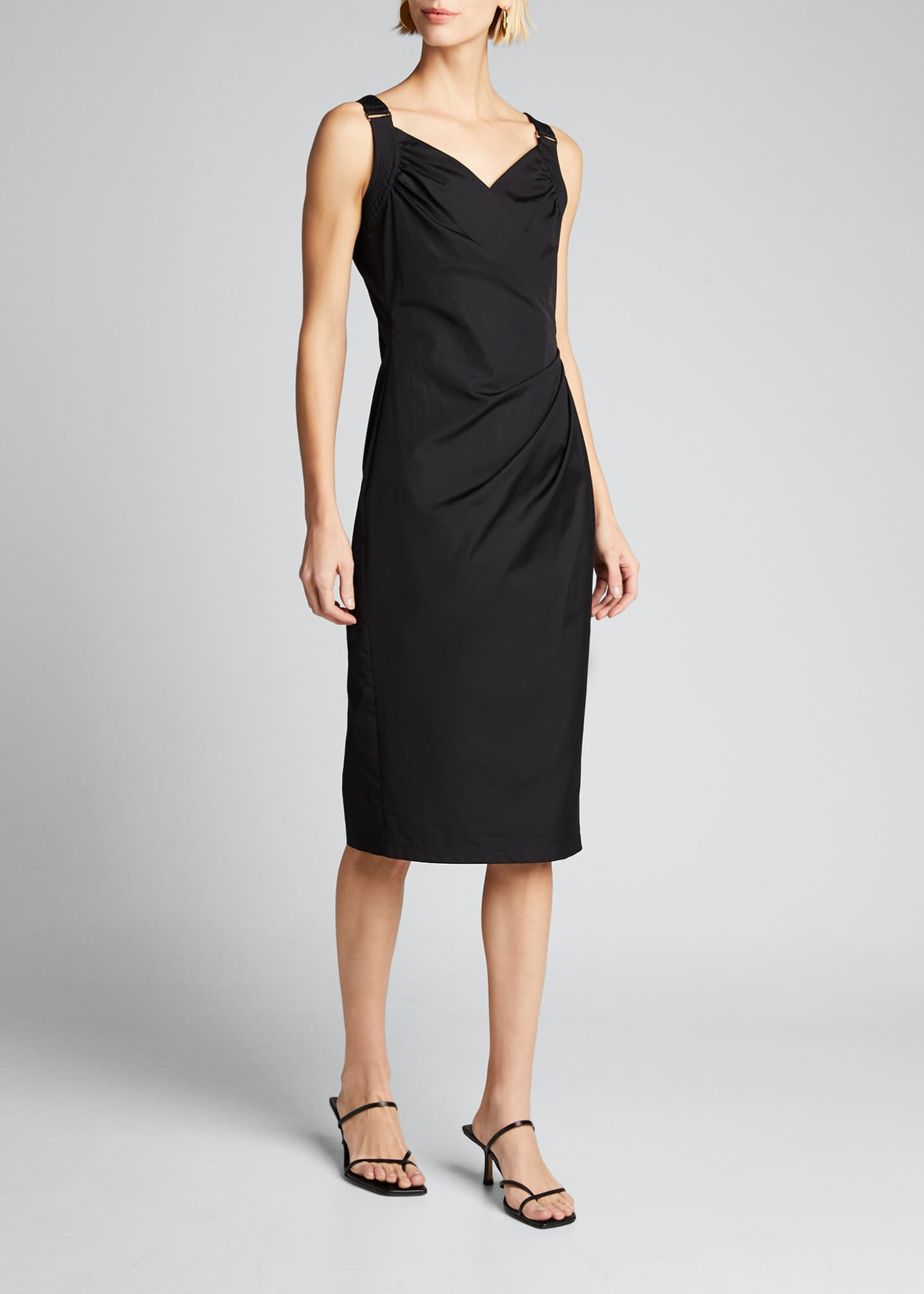 Image 3 of 5: Cotton Poplin Ruched Dress
