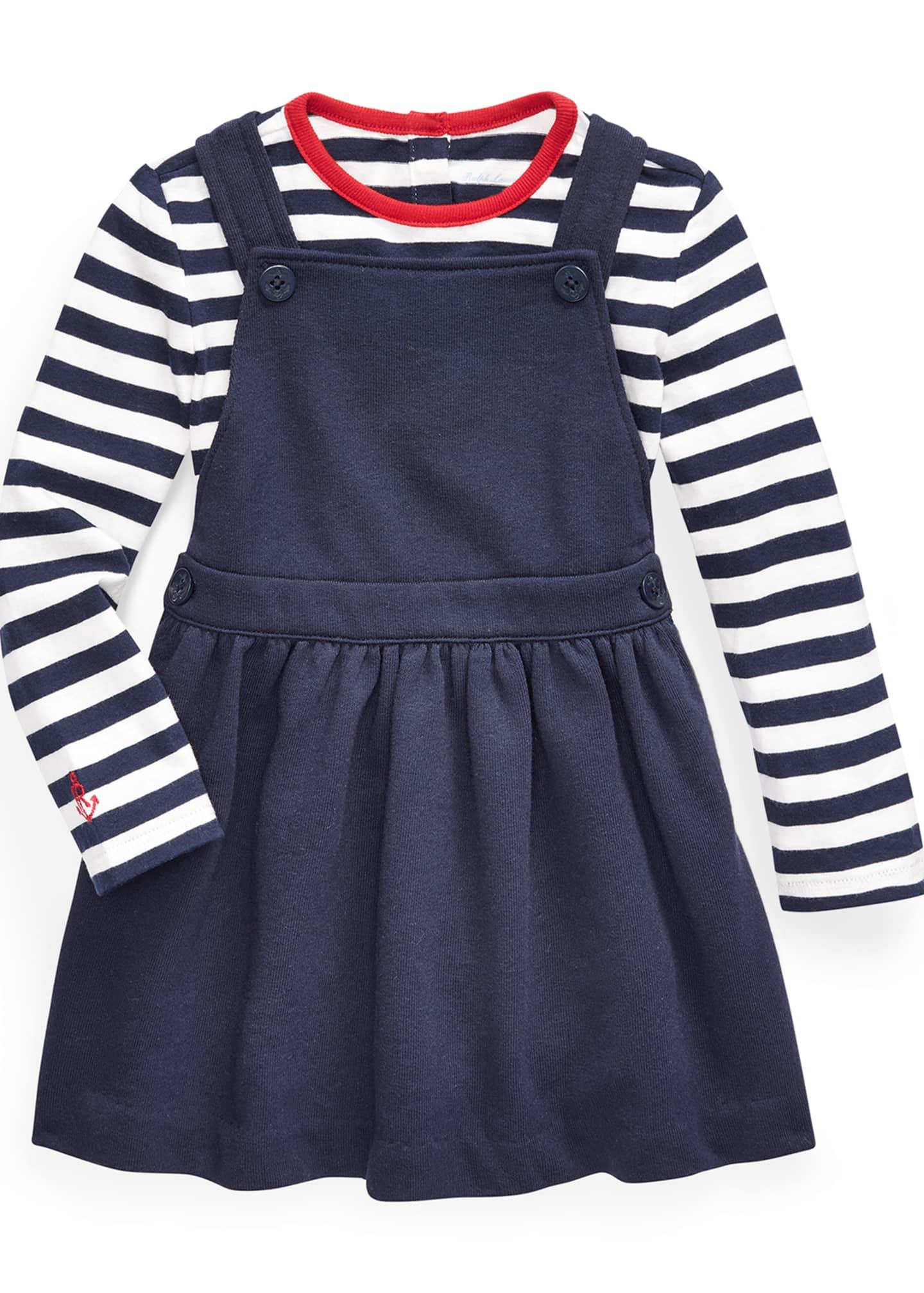 Ralph Lauren Childrenswear Girl's French Terry Overall Dress